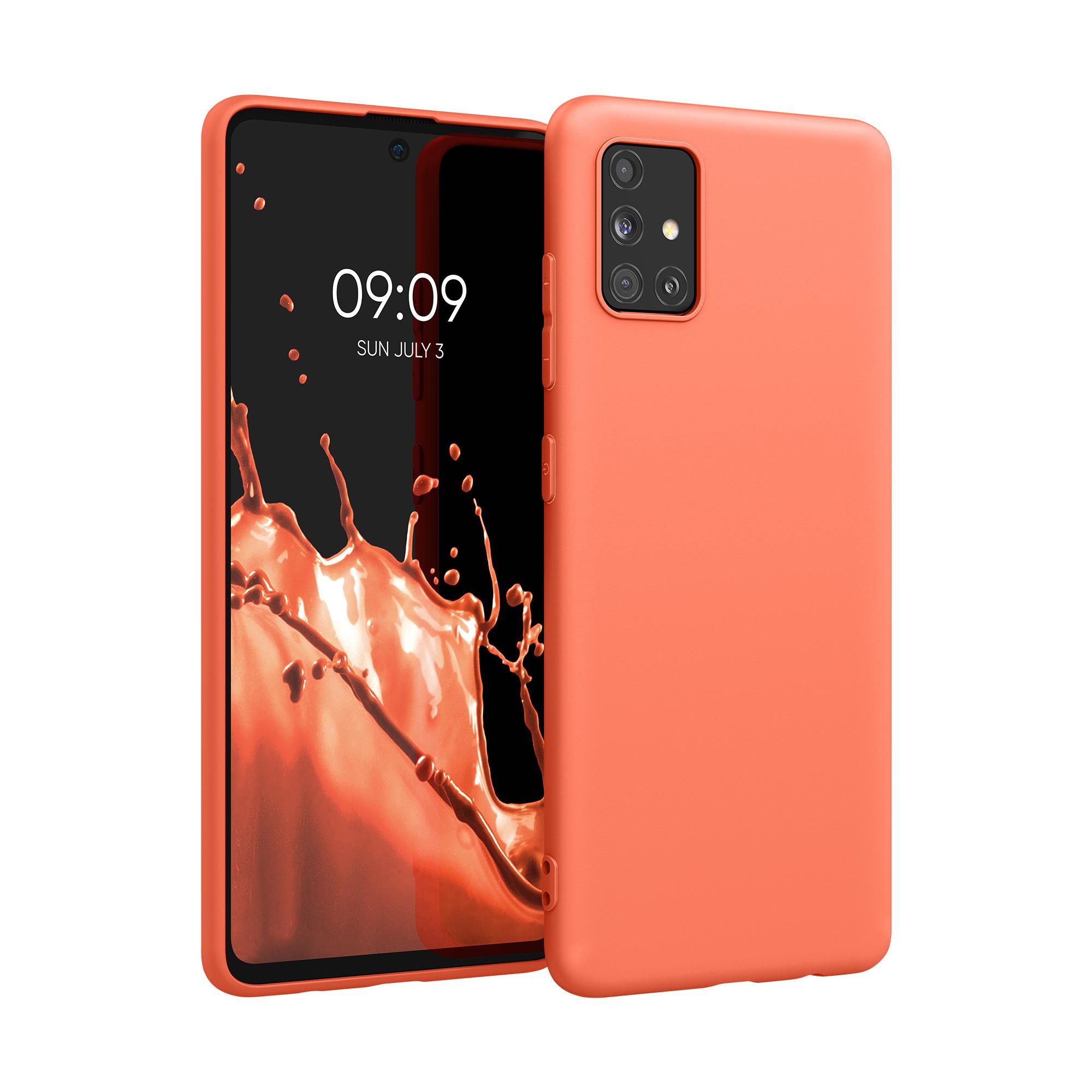 Korálově oranžové silikonové pouzdro / obal pro Samsung Galaxy A51