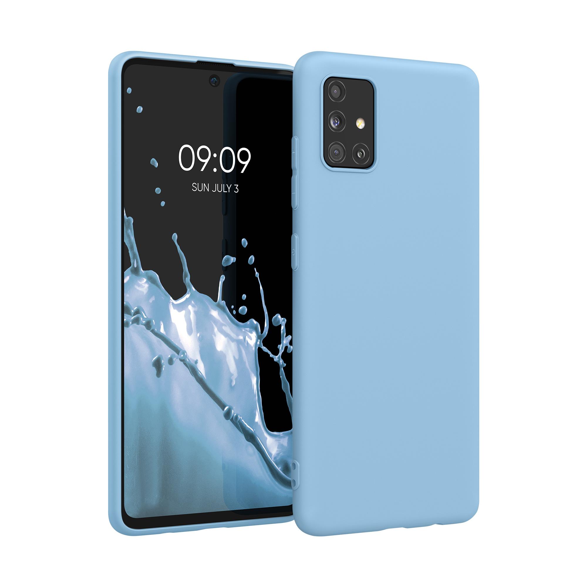 Blankytně modré silikonové pouzdro / obal pro Samsung Galaxy A51