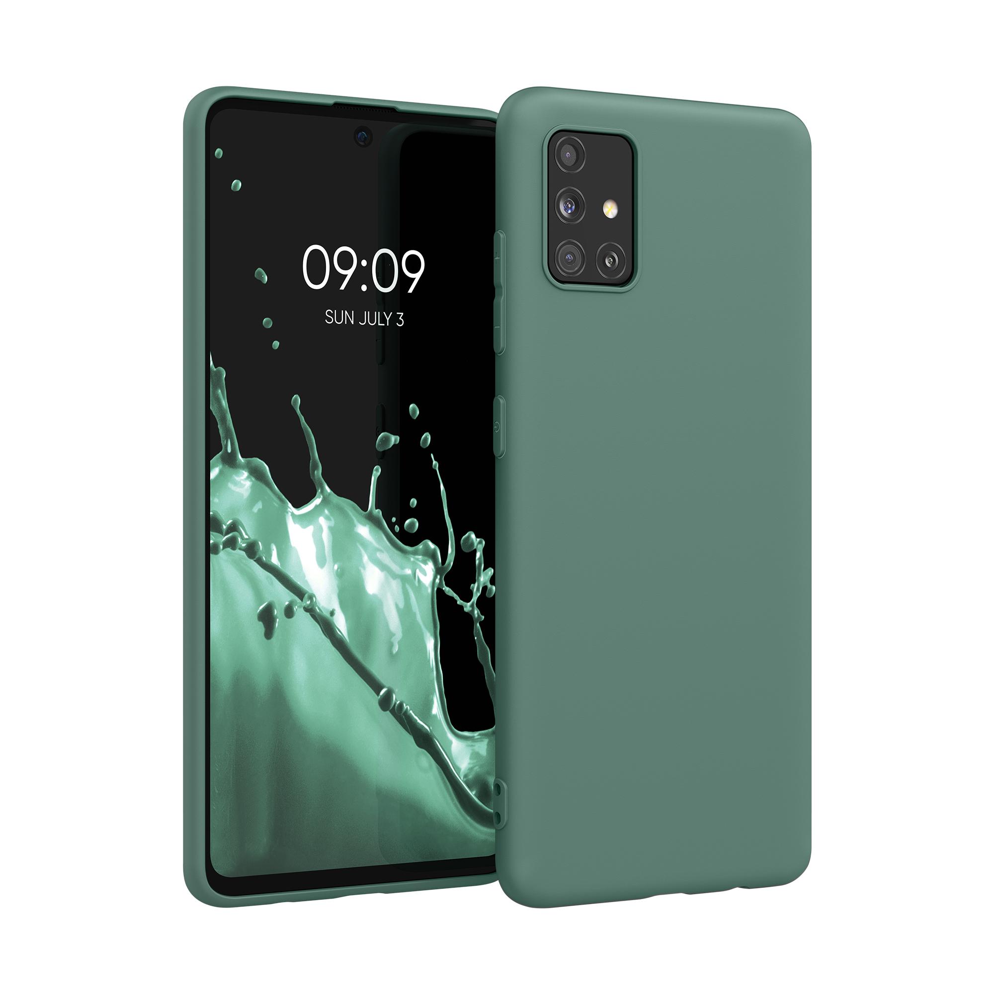 Kvalitní silikonové TPU pouzdro pro Samsung A51 - modré zelená