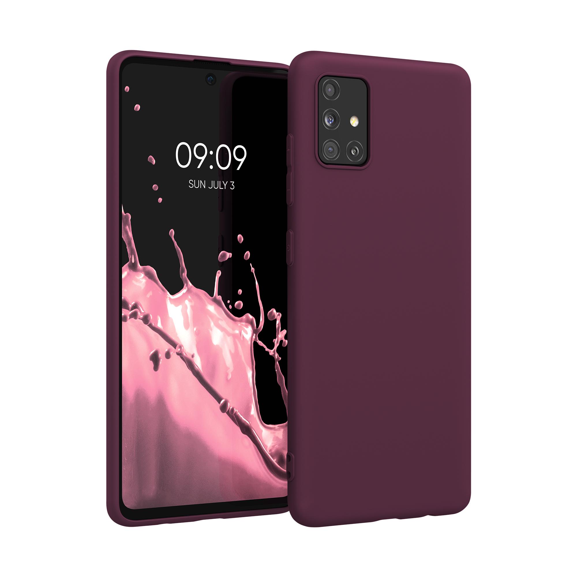 Kvalitní silikonové TPU pouzdro pro Samsung A51 - Bordeaux fialové