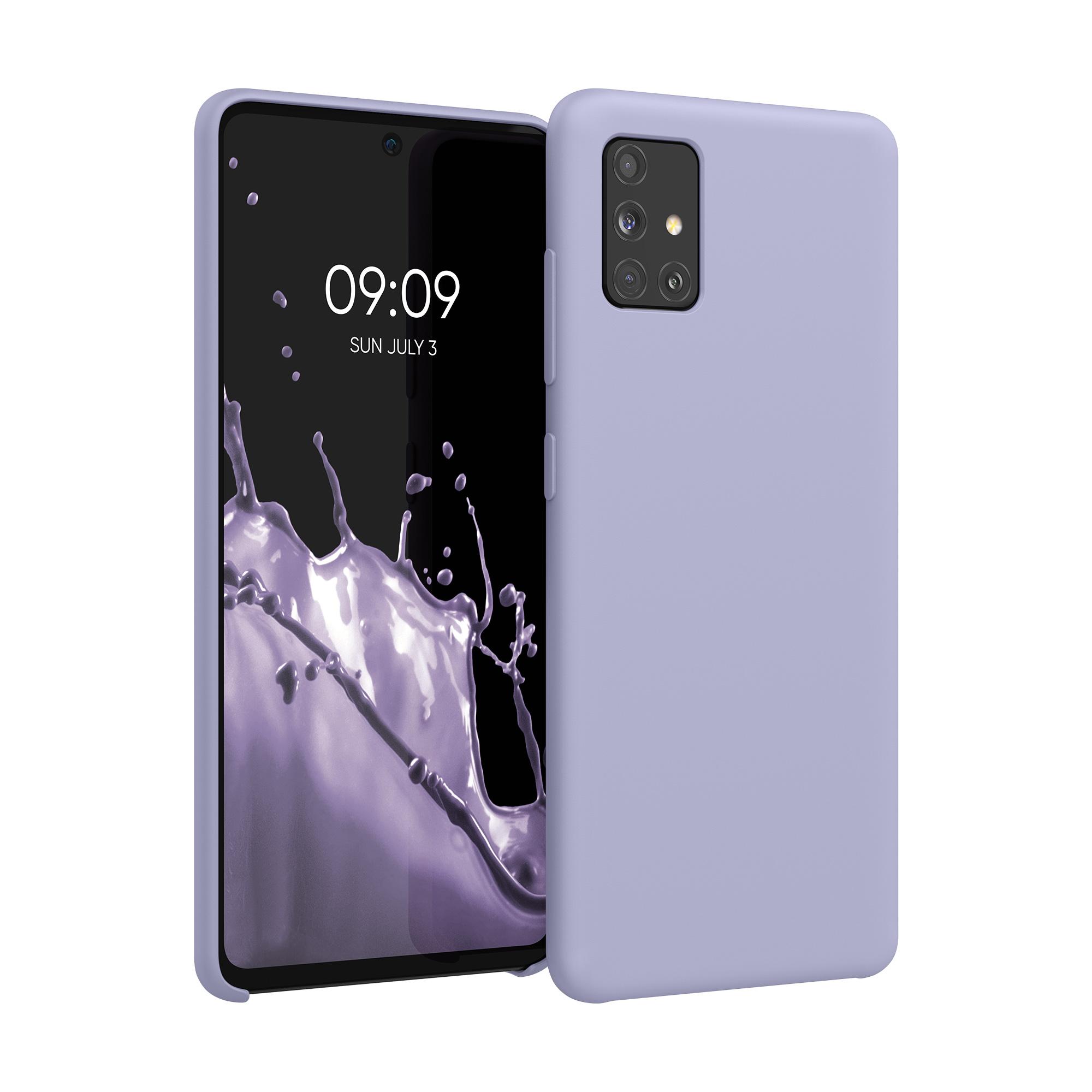 Kvalitní silikonové TPU pouzdro pro Samsung A51 - světle  levandulové fialové