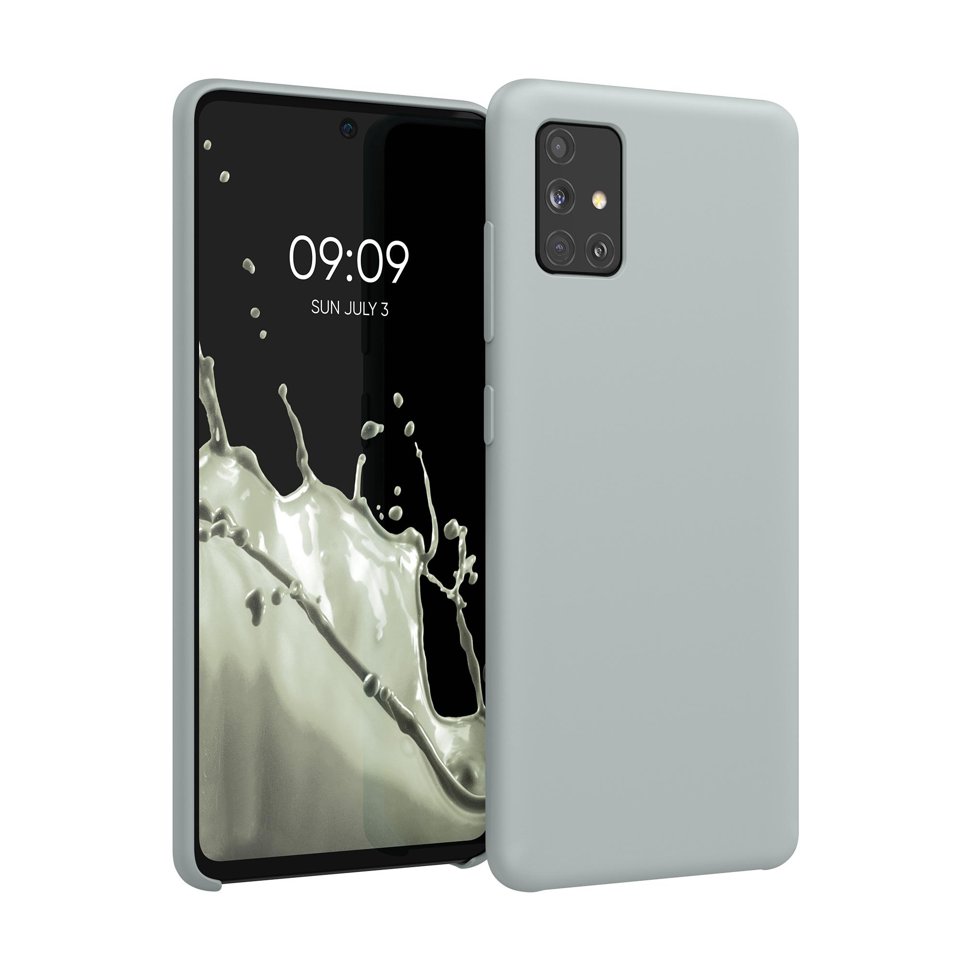 AKCE IHNED! Kvalitní silikonové TPU pouzdro pro Samsung A51 - světle  šedé matné