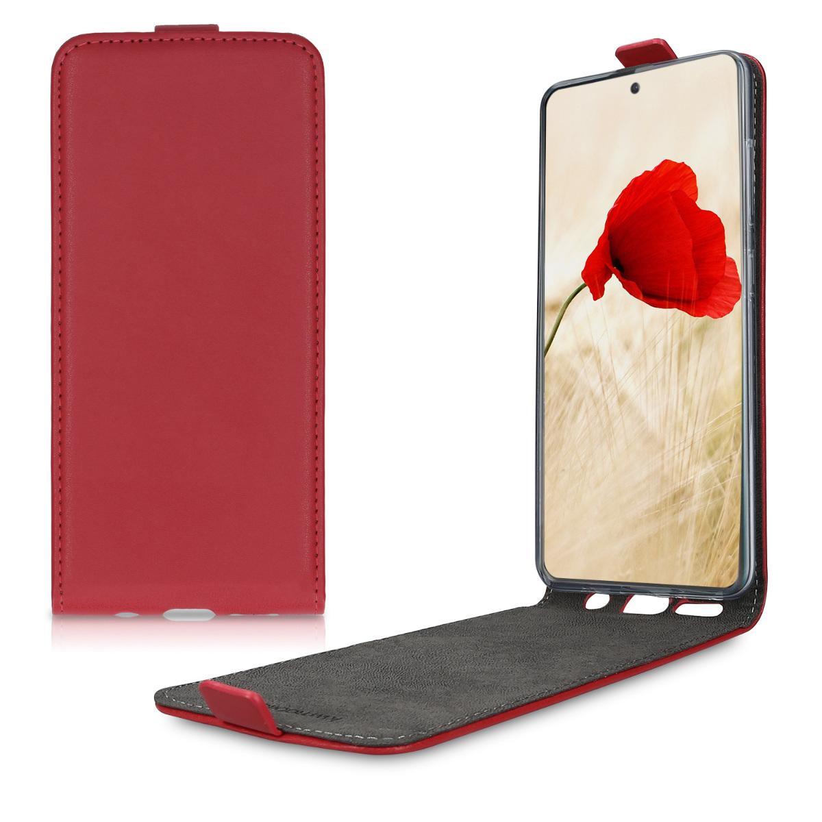 Kožené pouzdro pro Samsung A51 - červené