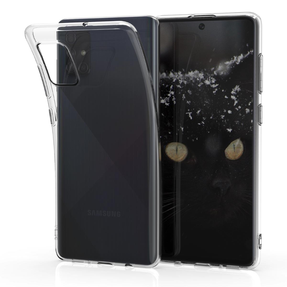 Kvalitní silikonové TPU pouzdro pro Samsung A71 - průhledné