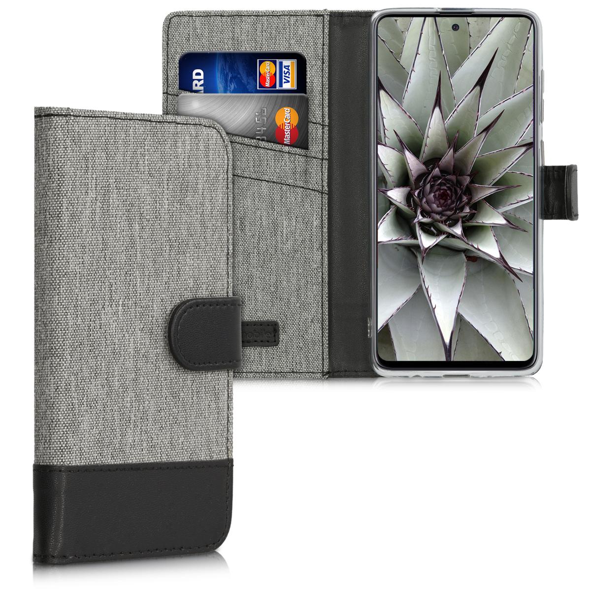 Fabricpouzdro pro Samsung A71 - šedé / černé