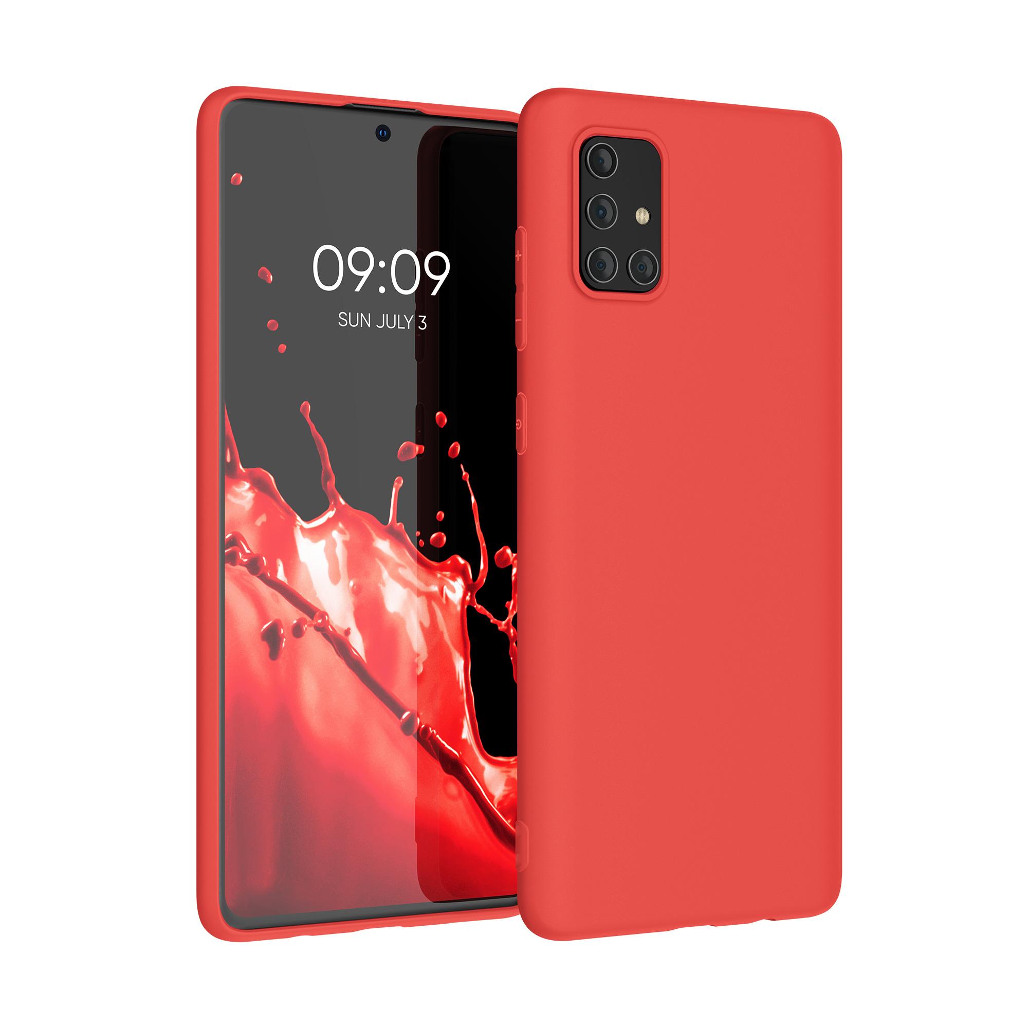 Kvalitní silikonové TPU pouzdro pro Samsung A71 - neonově červené