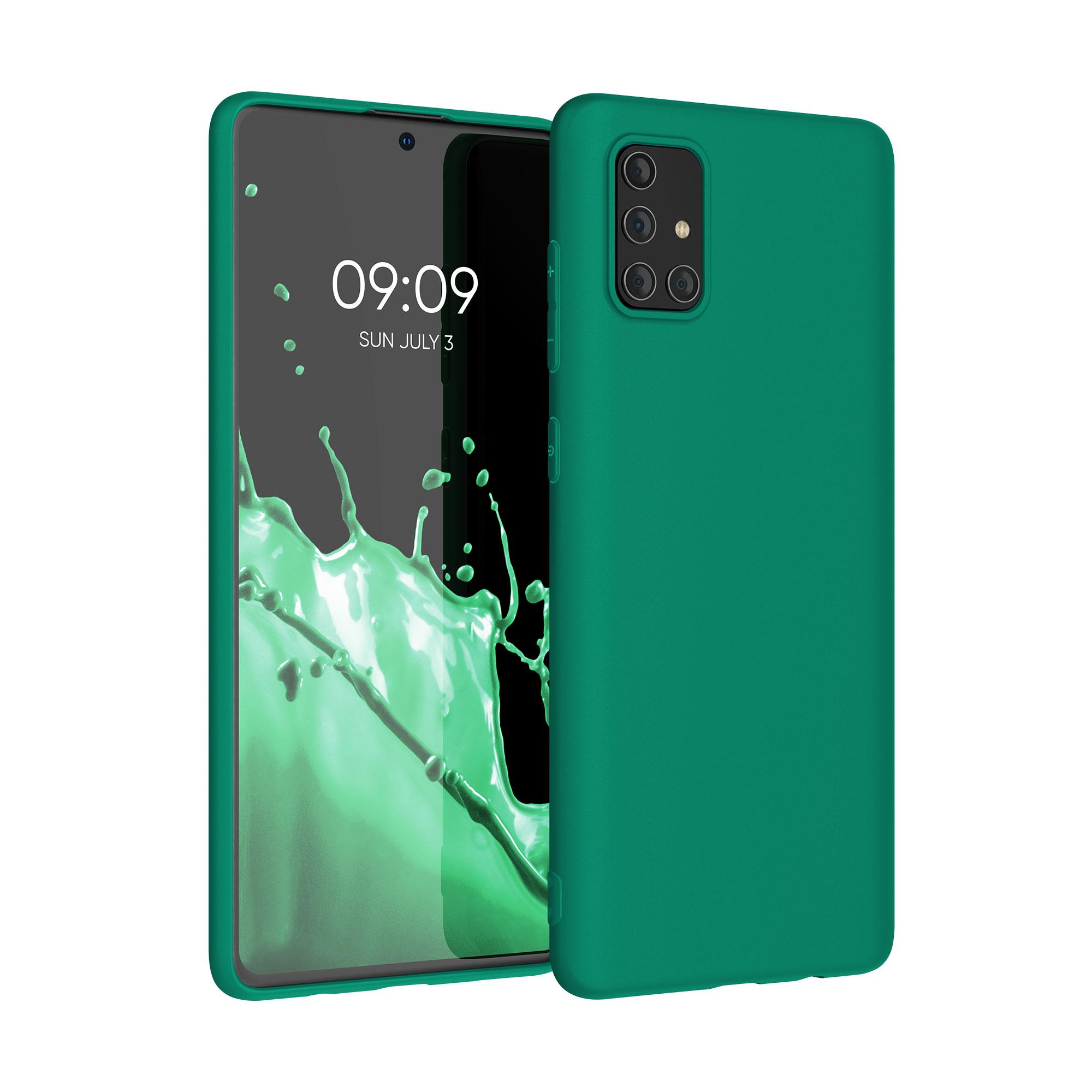 Kvalitní silikonové TPU pouzdro pro Samsung A71 - Smaragdová zeleň