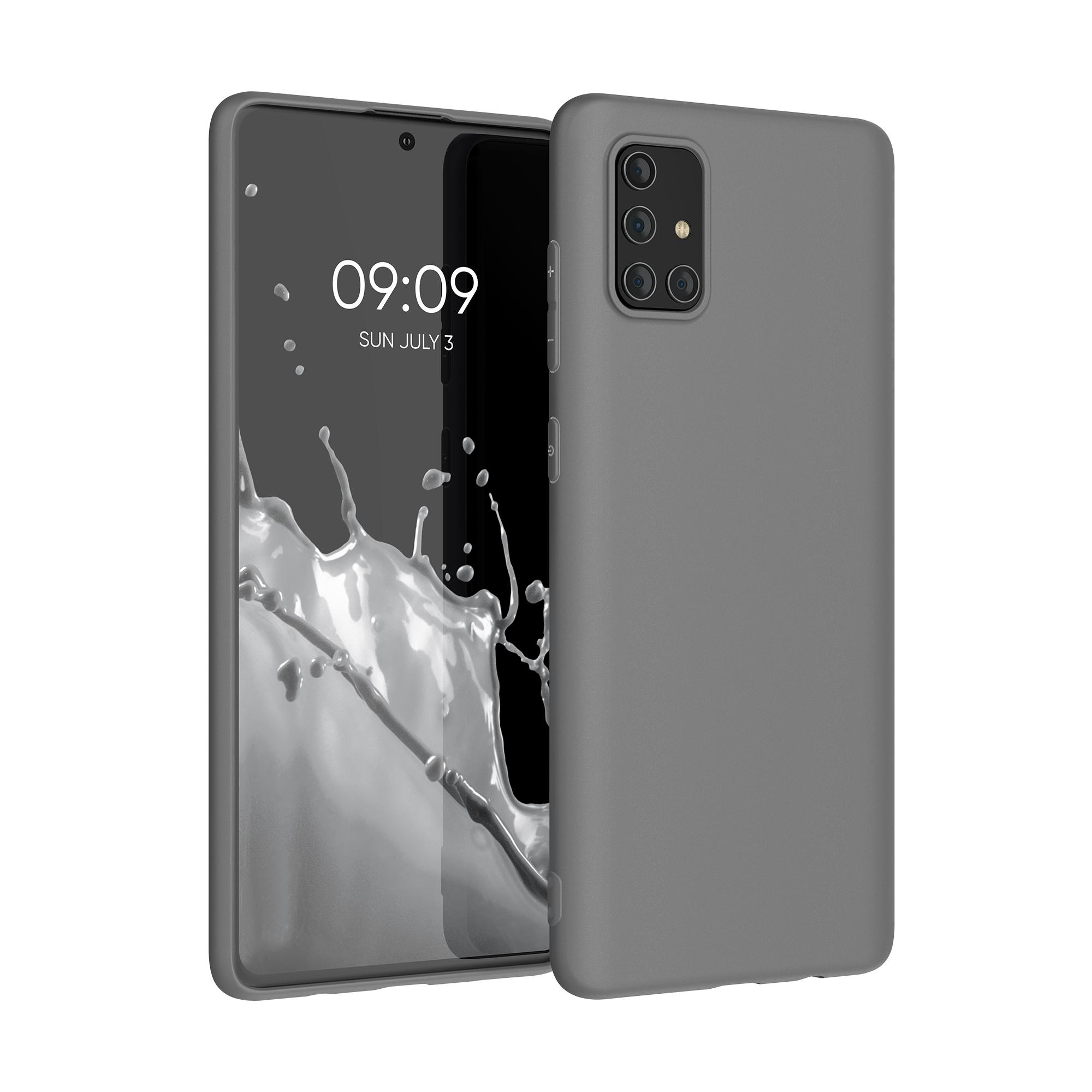 Kvalitní silikonové TPU pouzdro pro Samsung A71 - titanově šedé