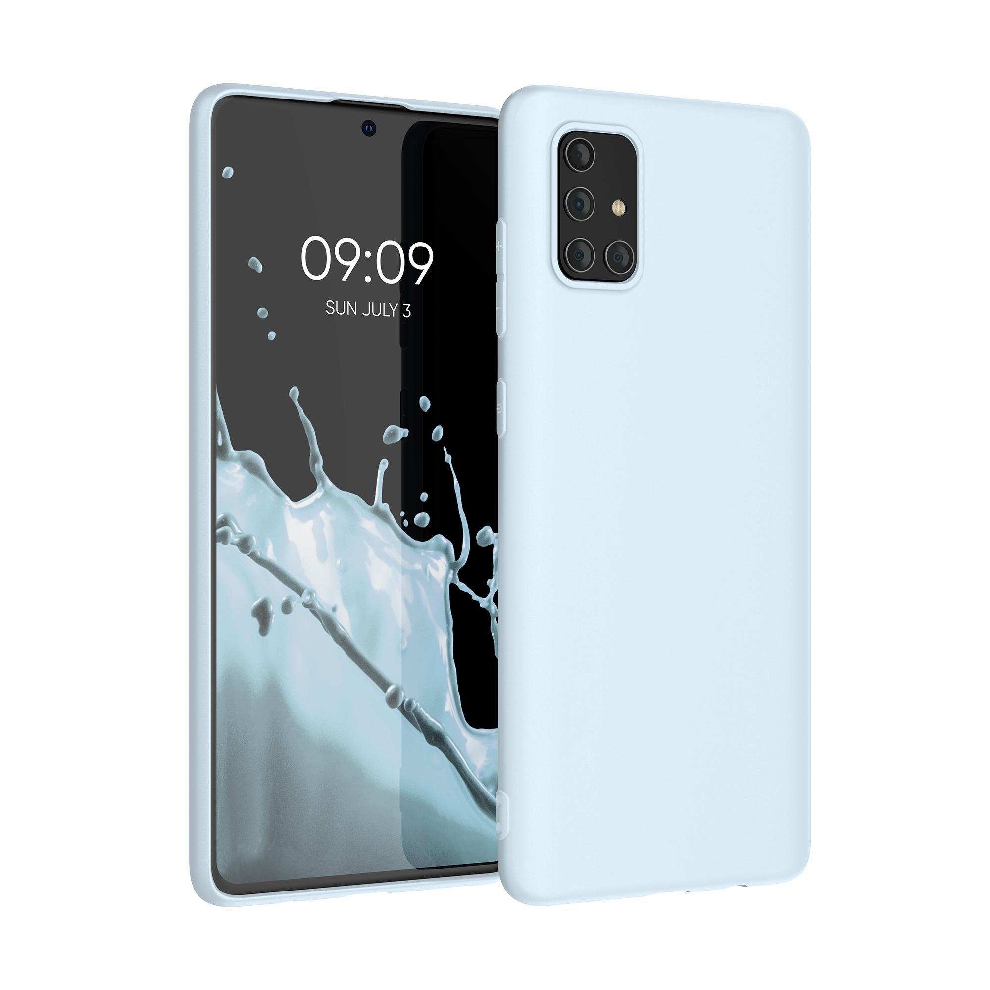 Kvalitní silikonové TPU pouzdro pro Samsung A71 - pastelově modrá