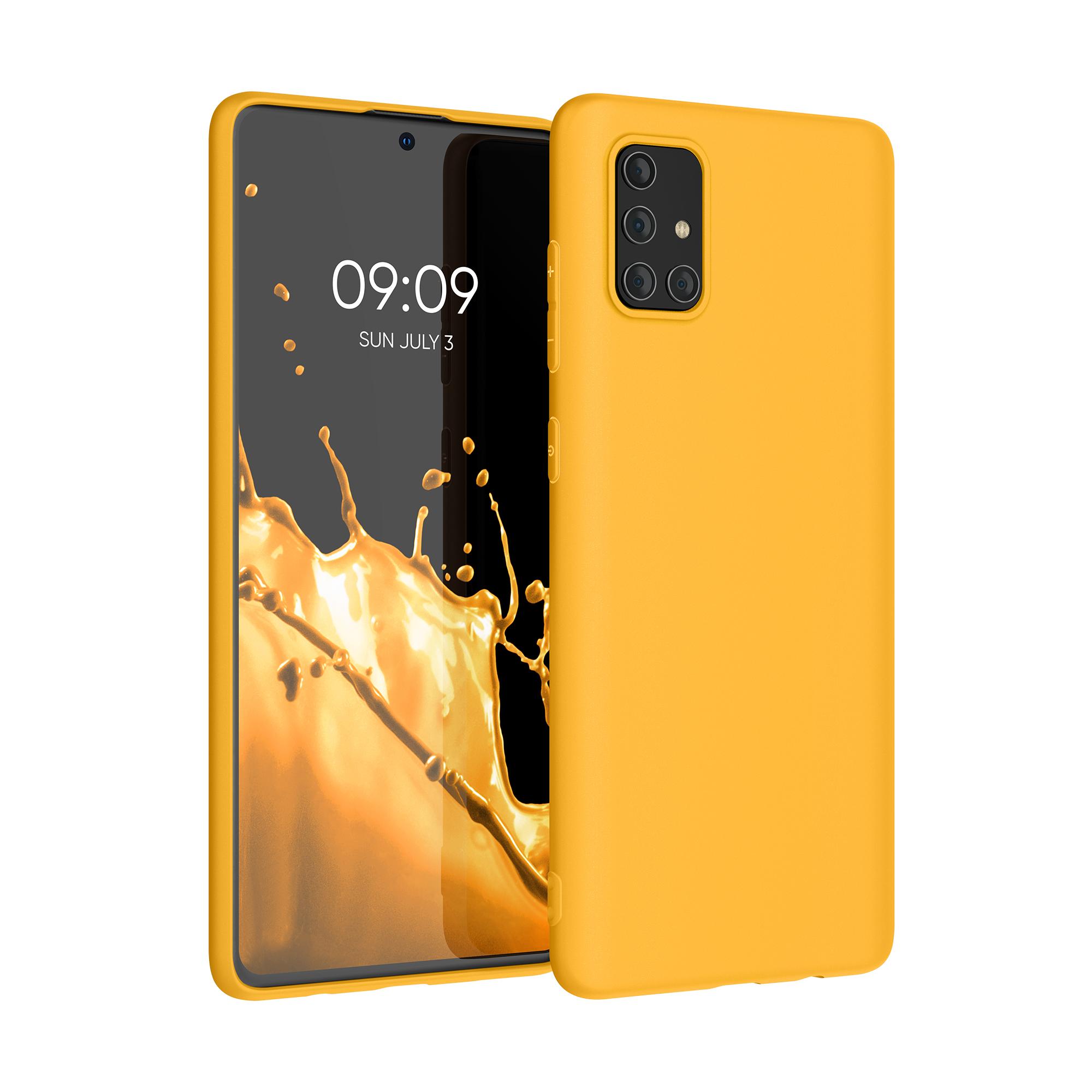 Kvalitní silikonové TPU pouzdro pro Samsung A71 - šafránově žluté