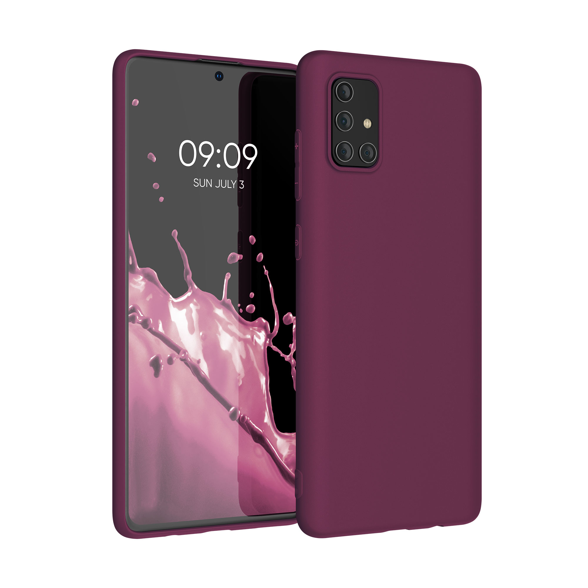 Kvalitní silikonové TPU pouzdro pro Samsung A71 - Bordeaux fialové