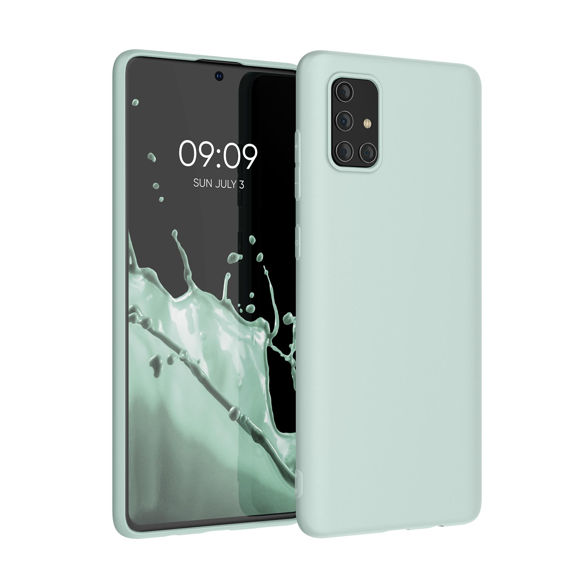Kvalitní silikonové TPU pouzdro pro Samsung A71 - Frosty mint