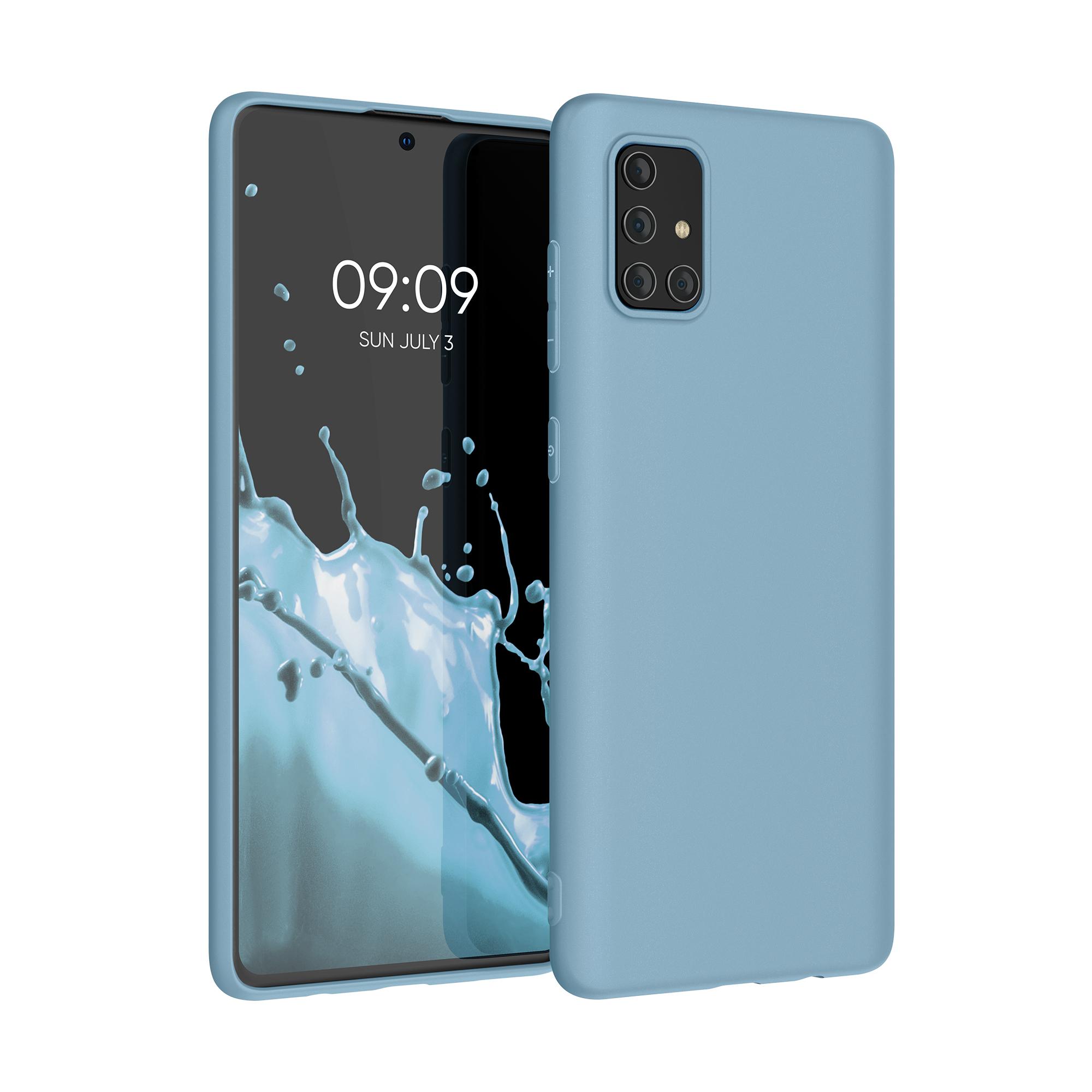 Kvalitní silikonové TPU pouzdro pro Samsung A71 - kámen modré