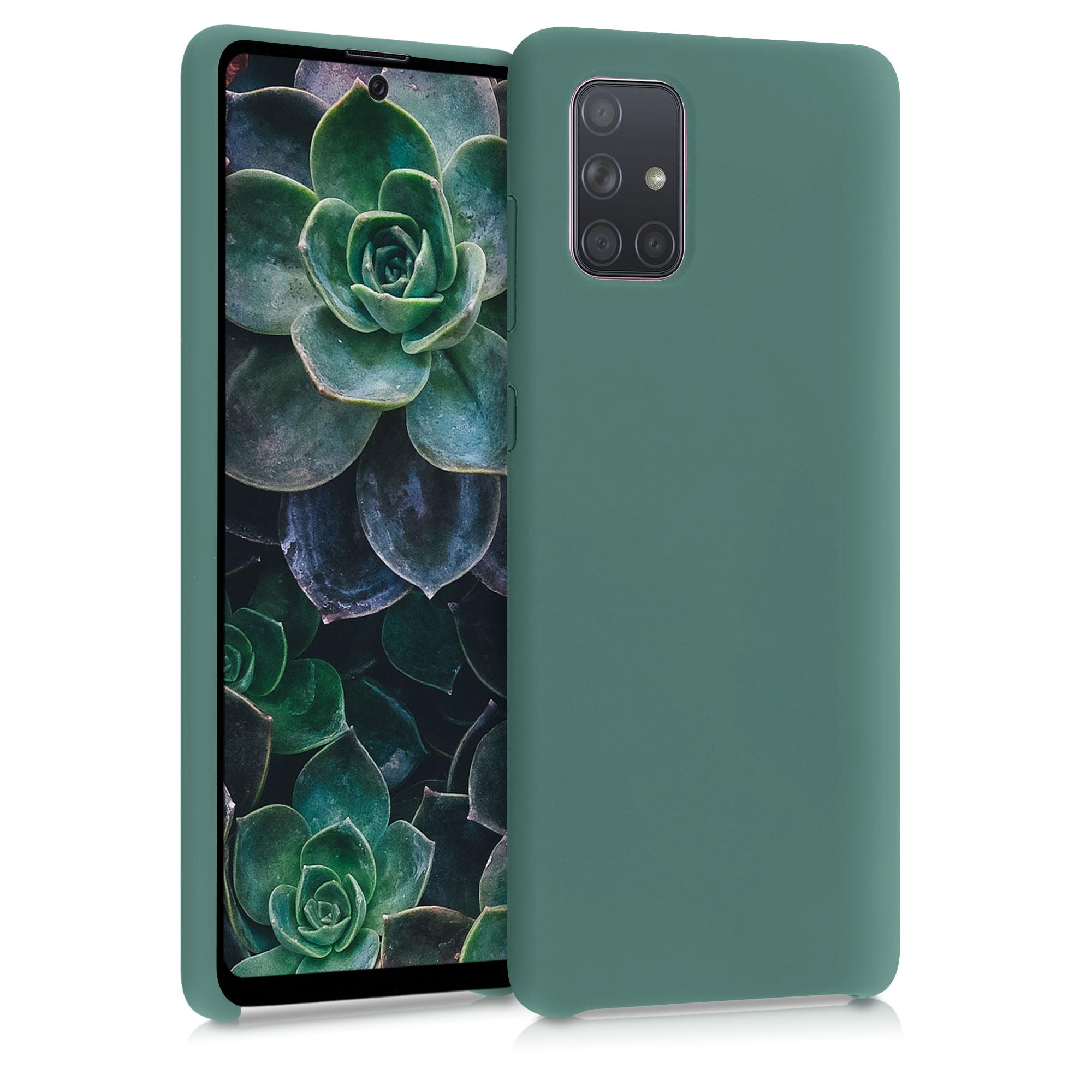 Kvalitní silikonové TPU pouzdro pro Samsung A71 - lesní zelené