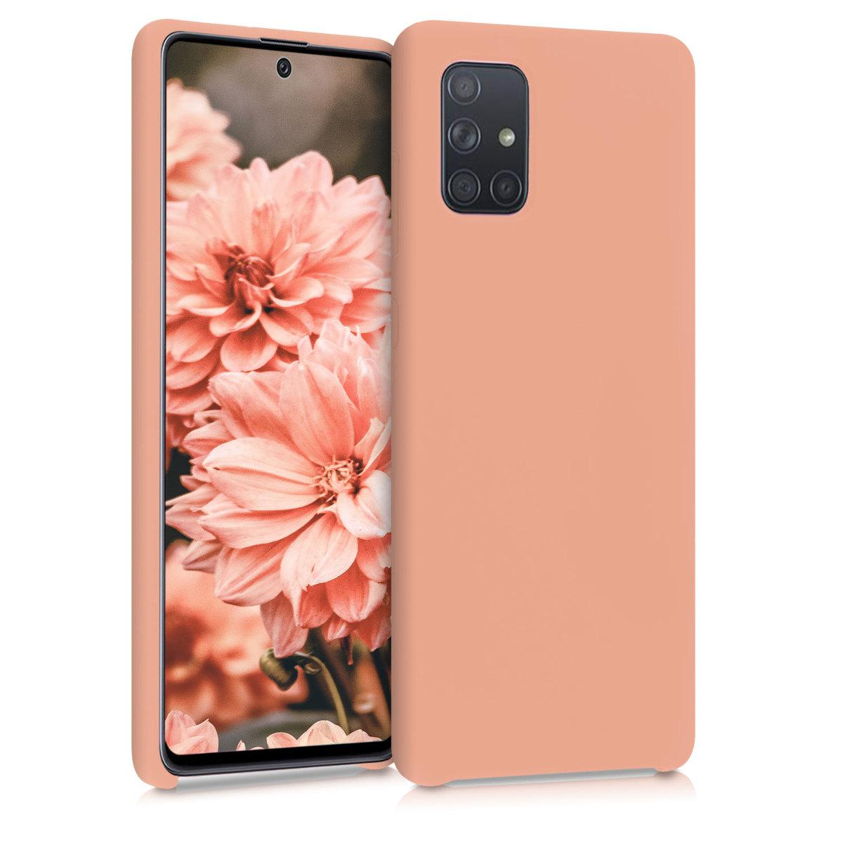 Kvalitní silikonové TPU pouzdro pro Samsung A71 - grapefruit Růžový