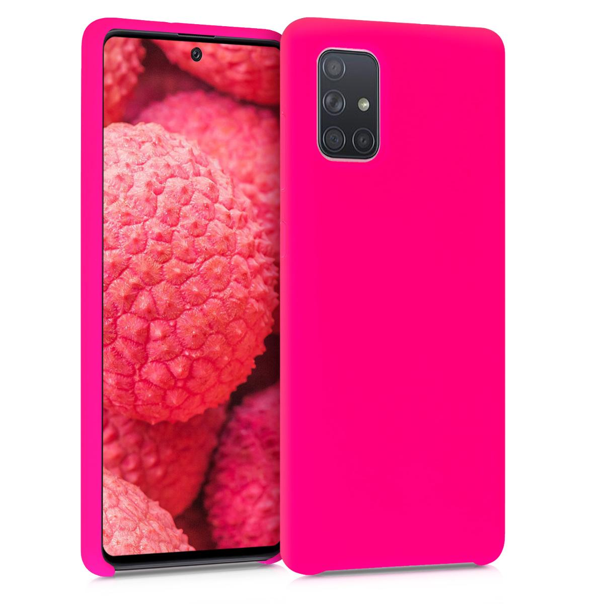 Kvalitní silikonové TPU pouzdro pro Samsung A71 - neonově růžové