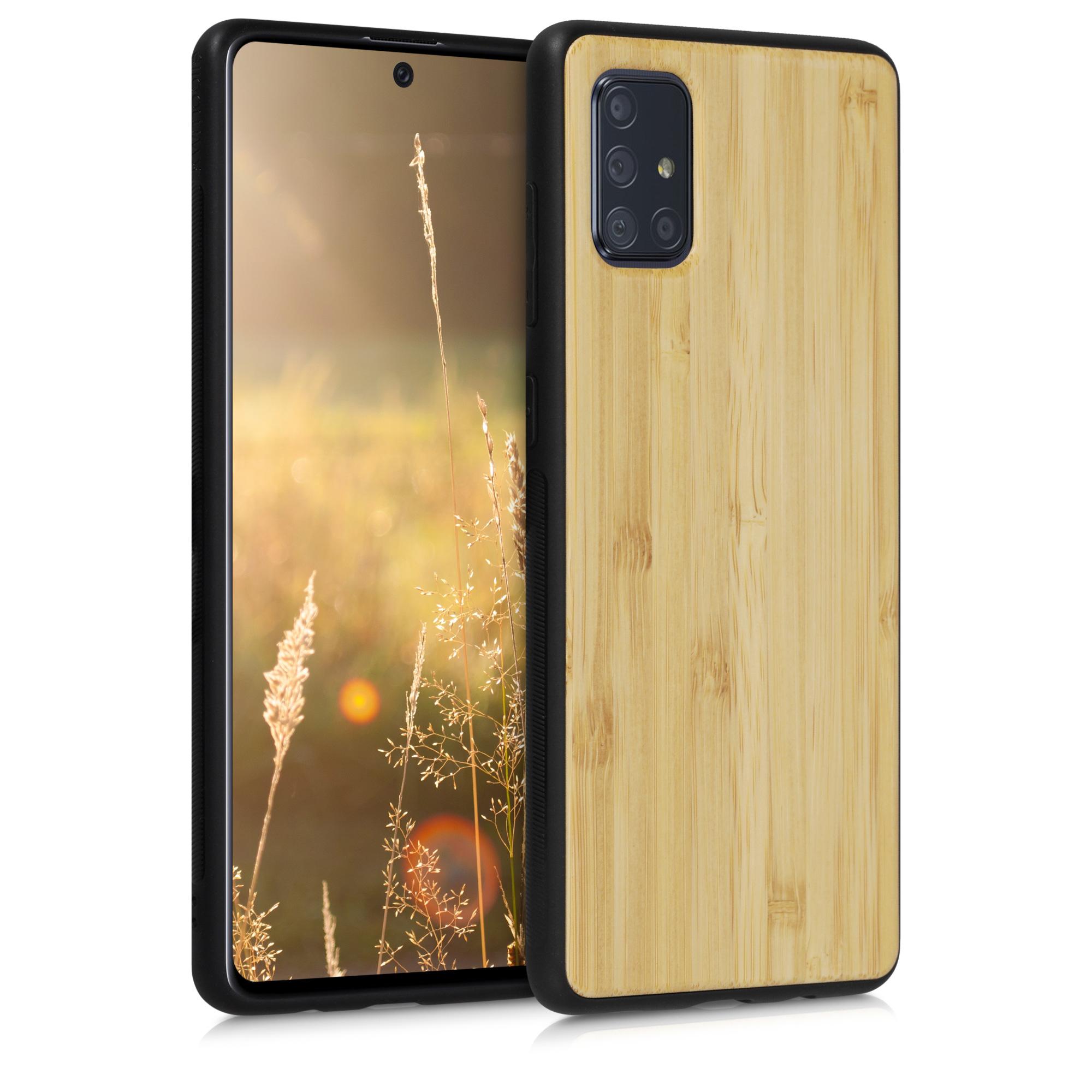 Luxusní světlé dřevěné pouzdro | obal pro Samsung Galaxy A71