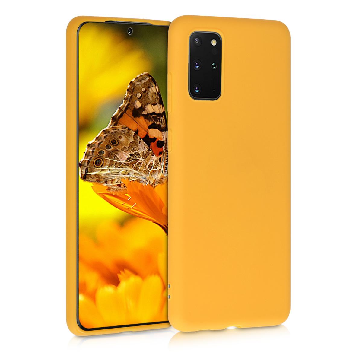 Medově žluté silikonové pouzdro / obal pro Samsung S20 Plus