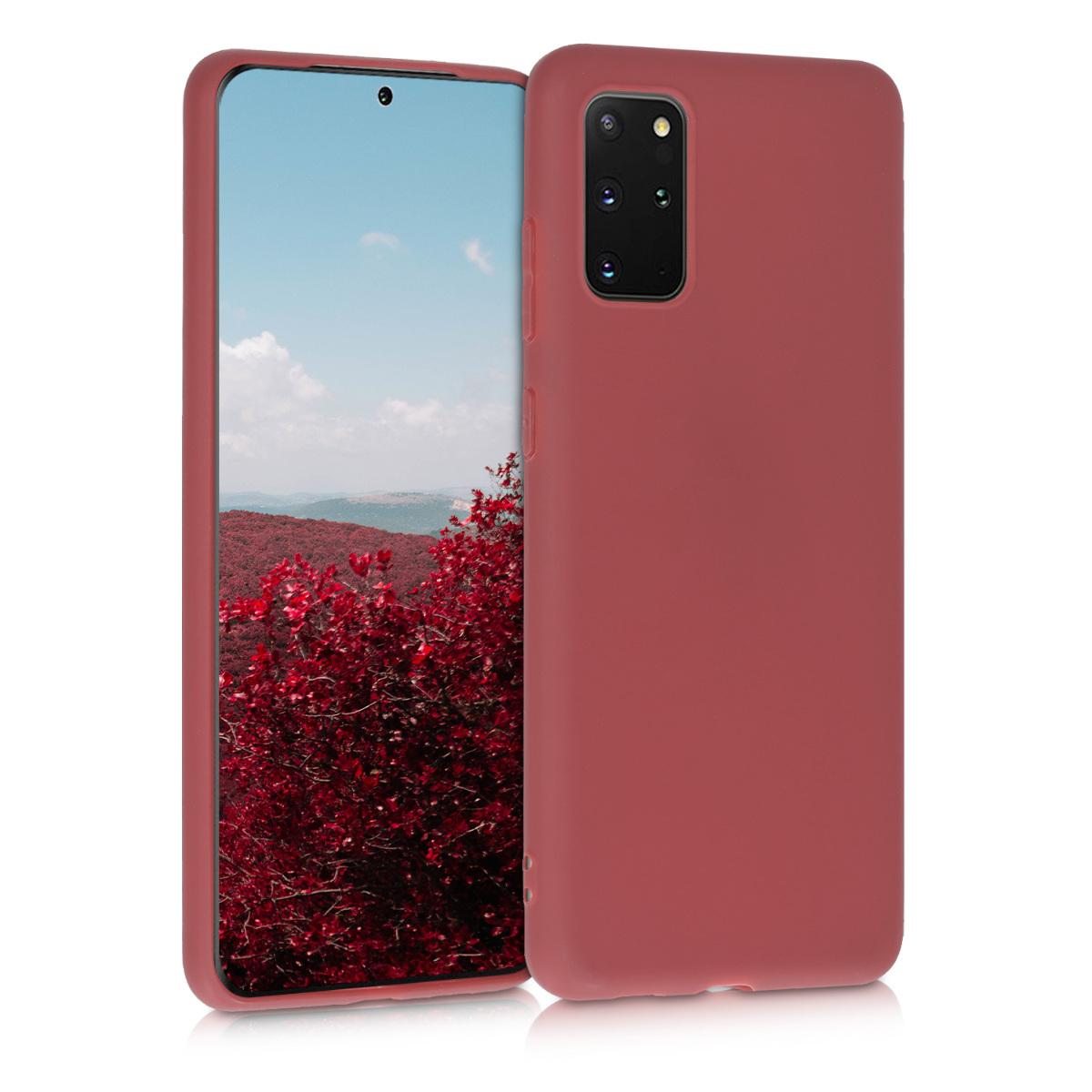 Kaštanově červené silikonové pouzdro / obal pro Samsung S20 Plus