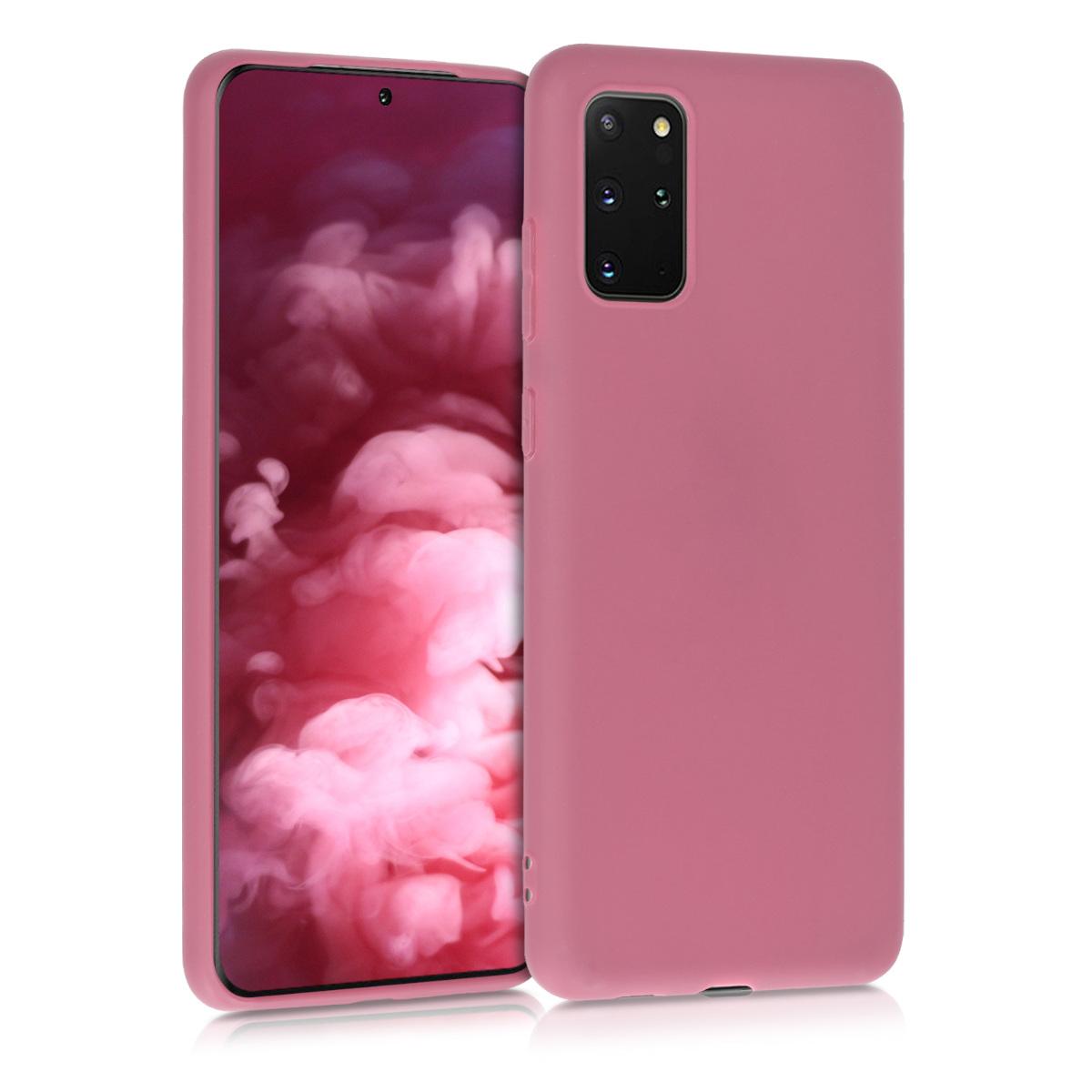 Tmavě růžové silikonové pouzdro / obal pro Samsung S20 Plus