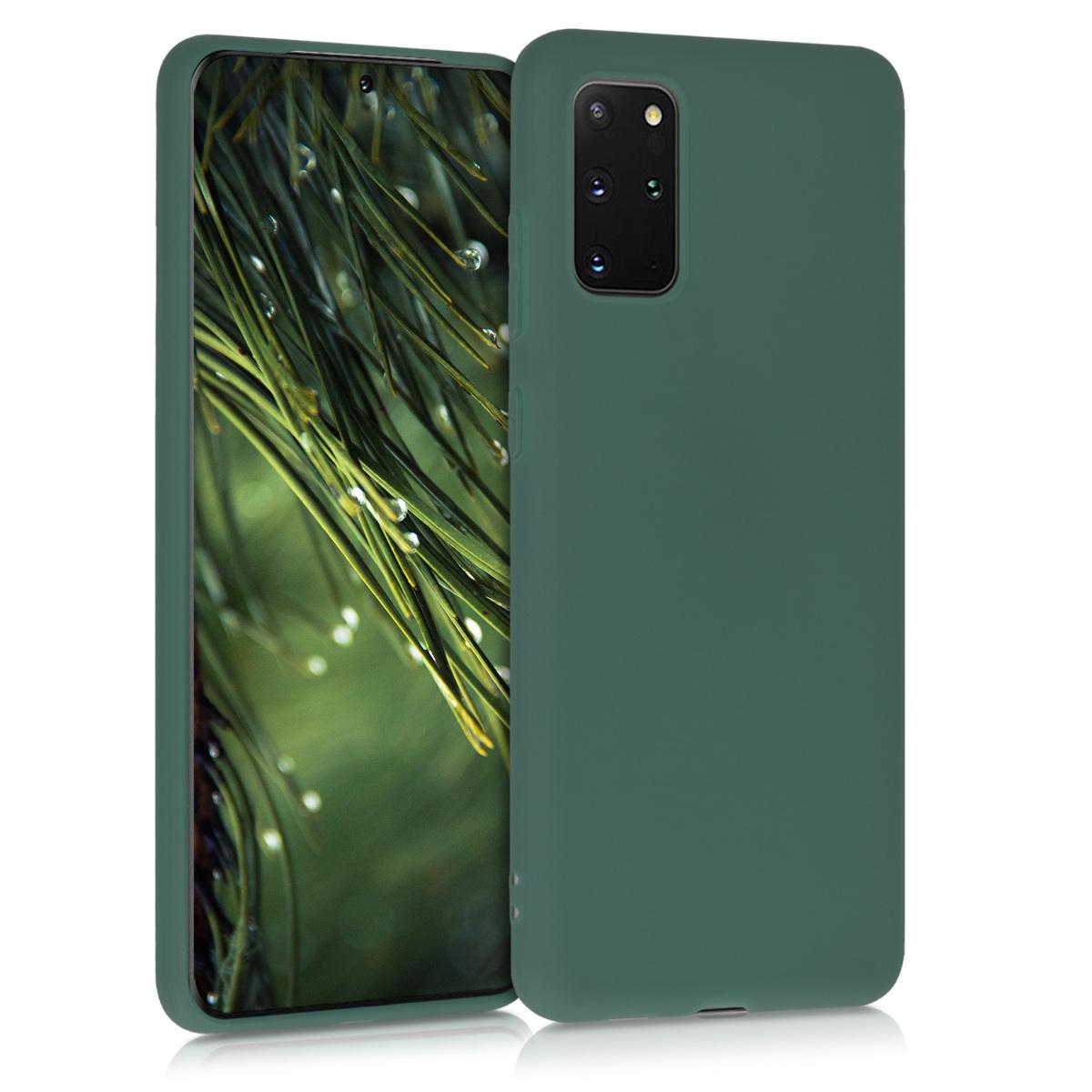Olivově zelené silikonové pouzdro / obal pro Samsung S20 Plus