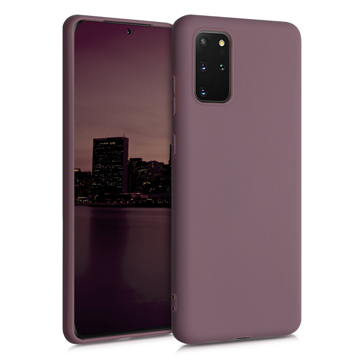 Vínově fialové silikonové pouzdro / obal pro Samsung S20 Plus