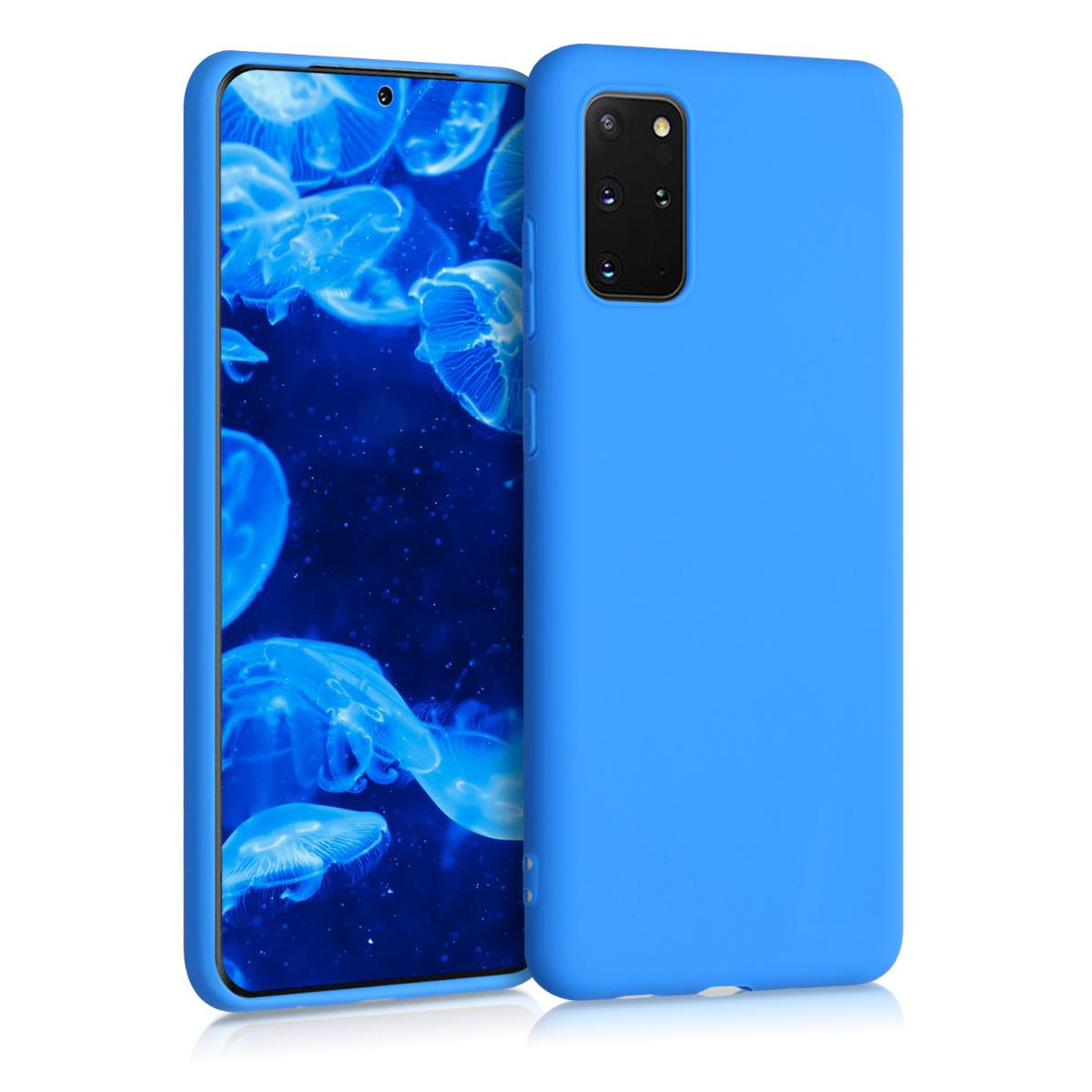 Bazénově modré silikonové pouzdro / obal pro Samsung S20 Plus