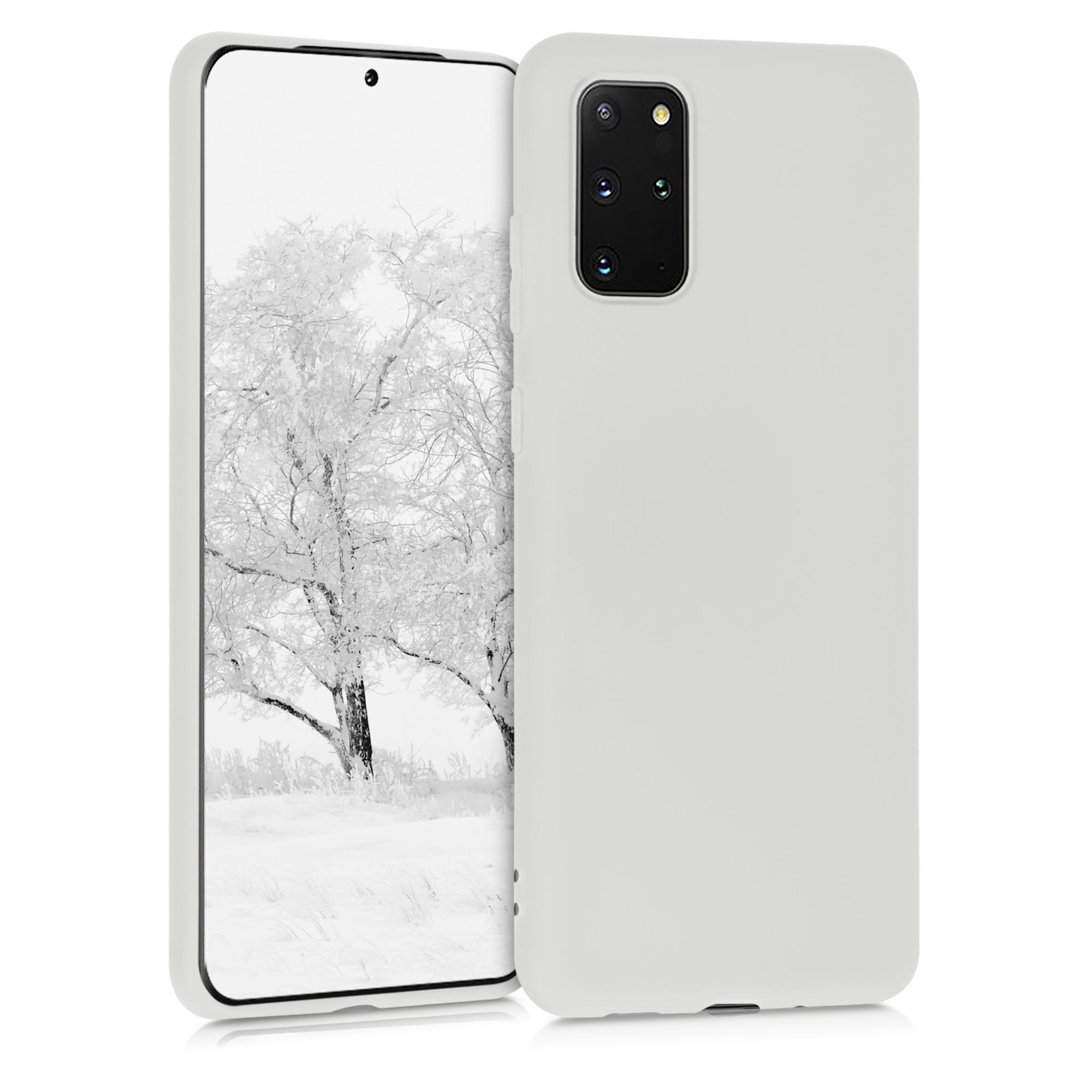 Mlhově bílé silikonové pouzdro / obal pro Samsung S20 Plus