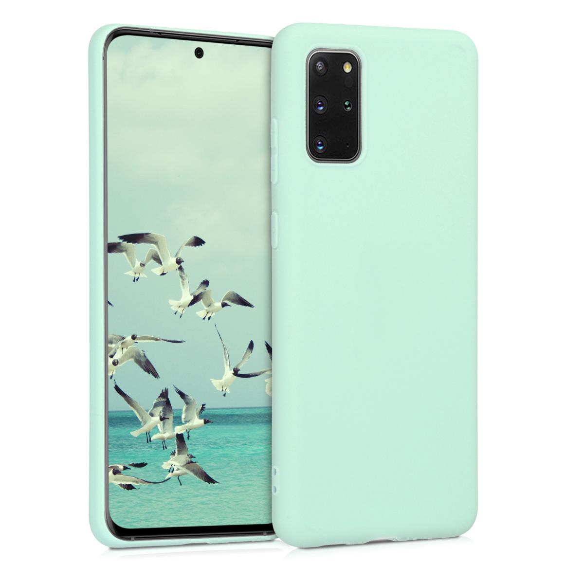 Mint zelené silikonové pouzdro / obal pro Samsung S20 Plus