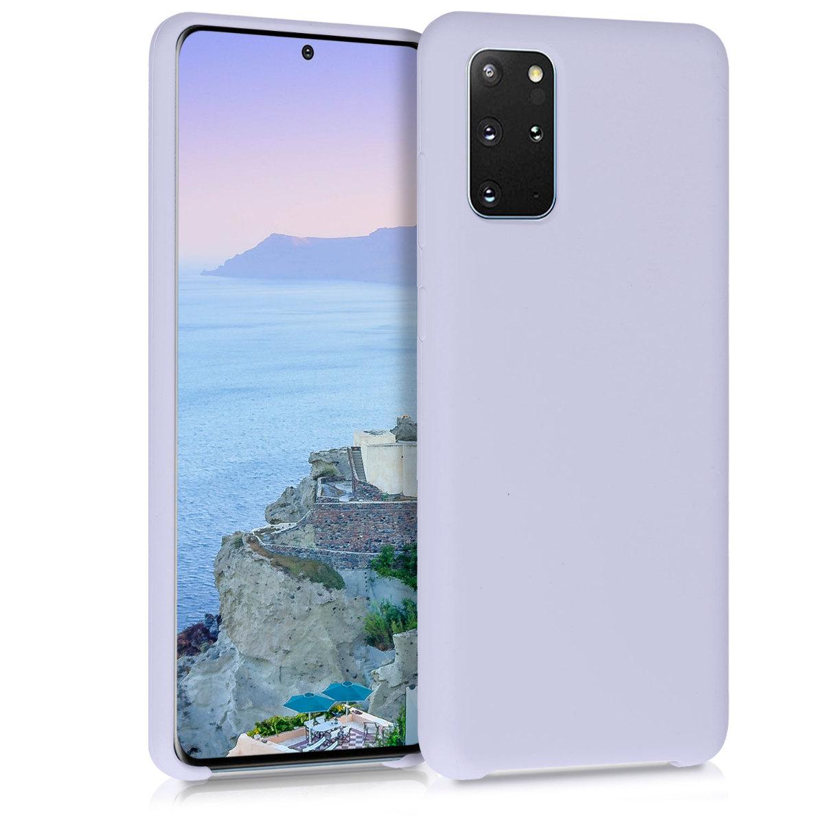 Levandulově fialové silikonové pouzdro / obal pro Samsung S20 Plus