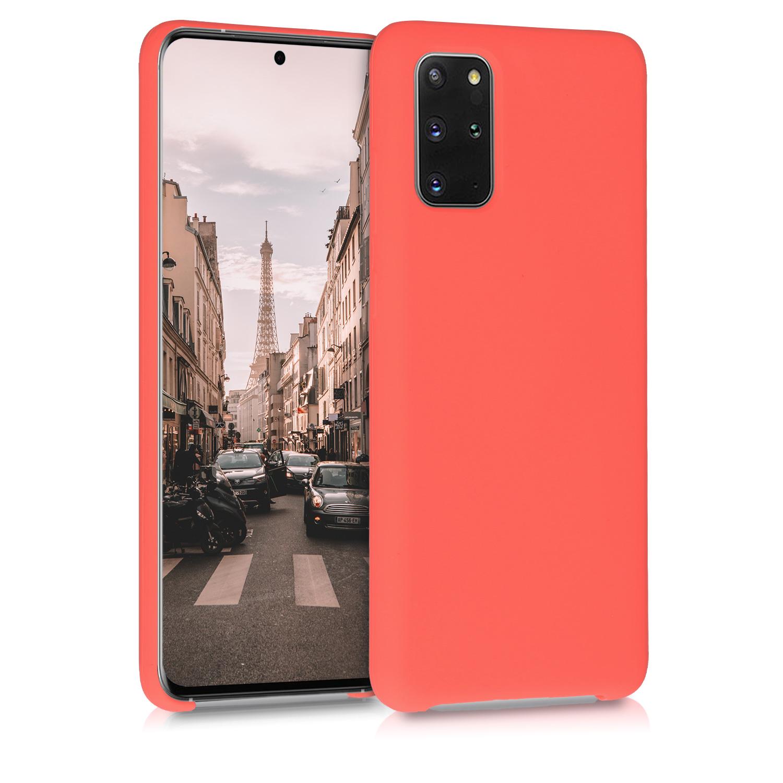 Korálově oranžové silikonové pouzdro / obal pro Samsung S20 Plus