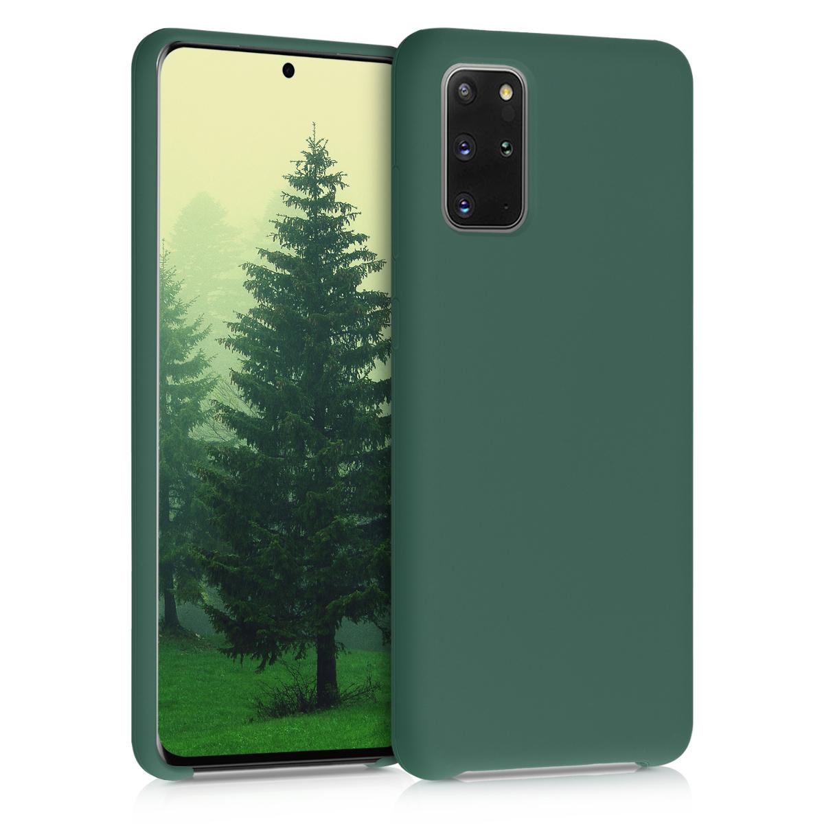 Lesní zelené silikonové pouzdro / obal pro Samsung S20 Plus