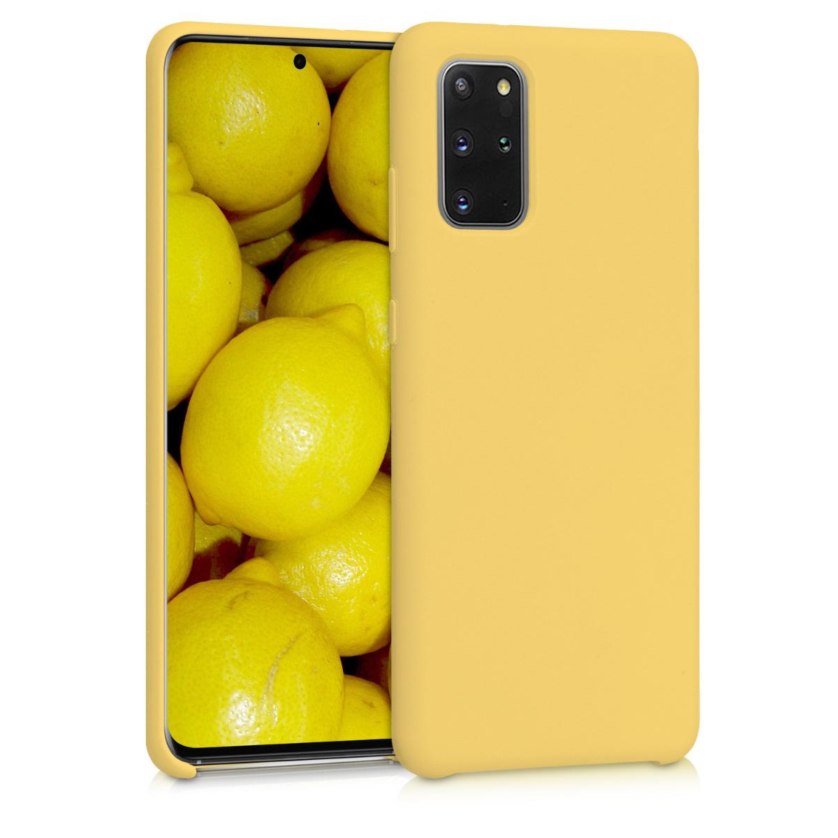 Citrónově žluté silikonové pouzdro / obal pro Samsung S20 Plus