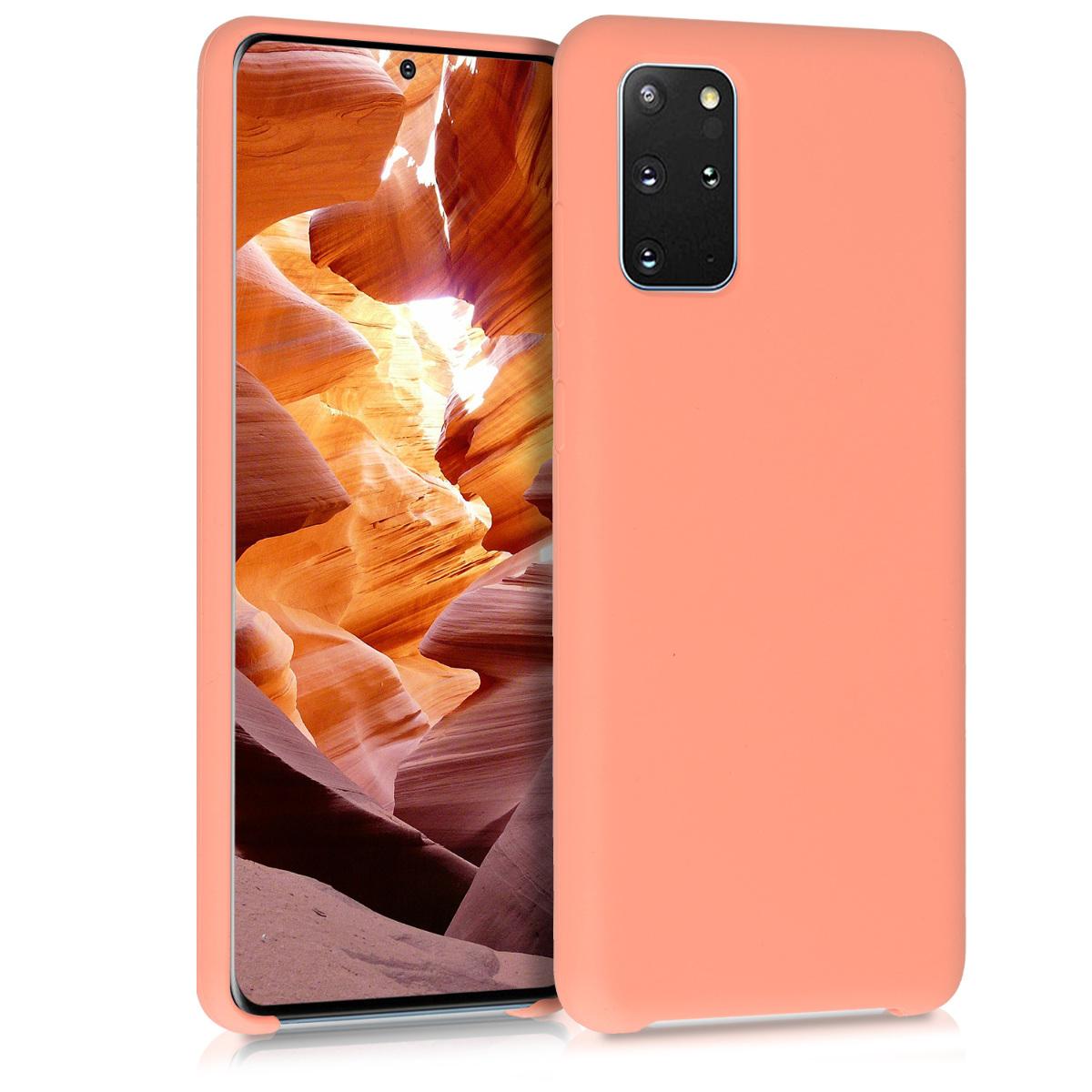 Lososově růžové silikonové pouzdro / obal pro Samsung S20 Plus