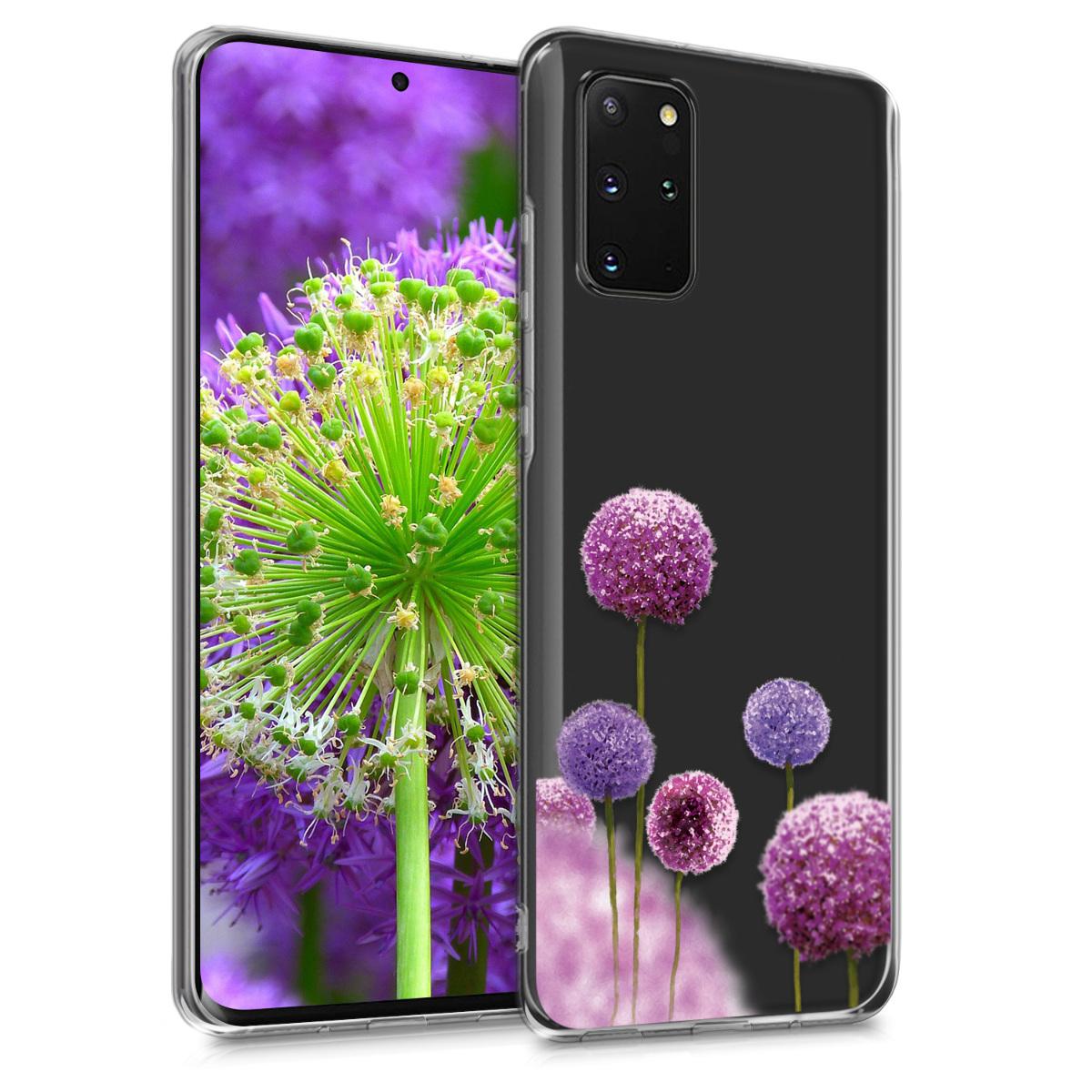 Silikonové pouzdro / obal s motivem květů pro Samsung S20 Plus