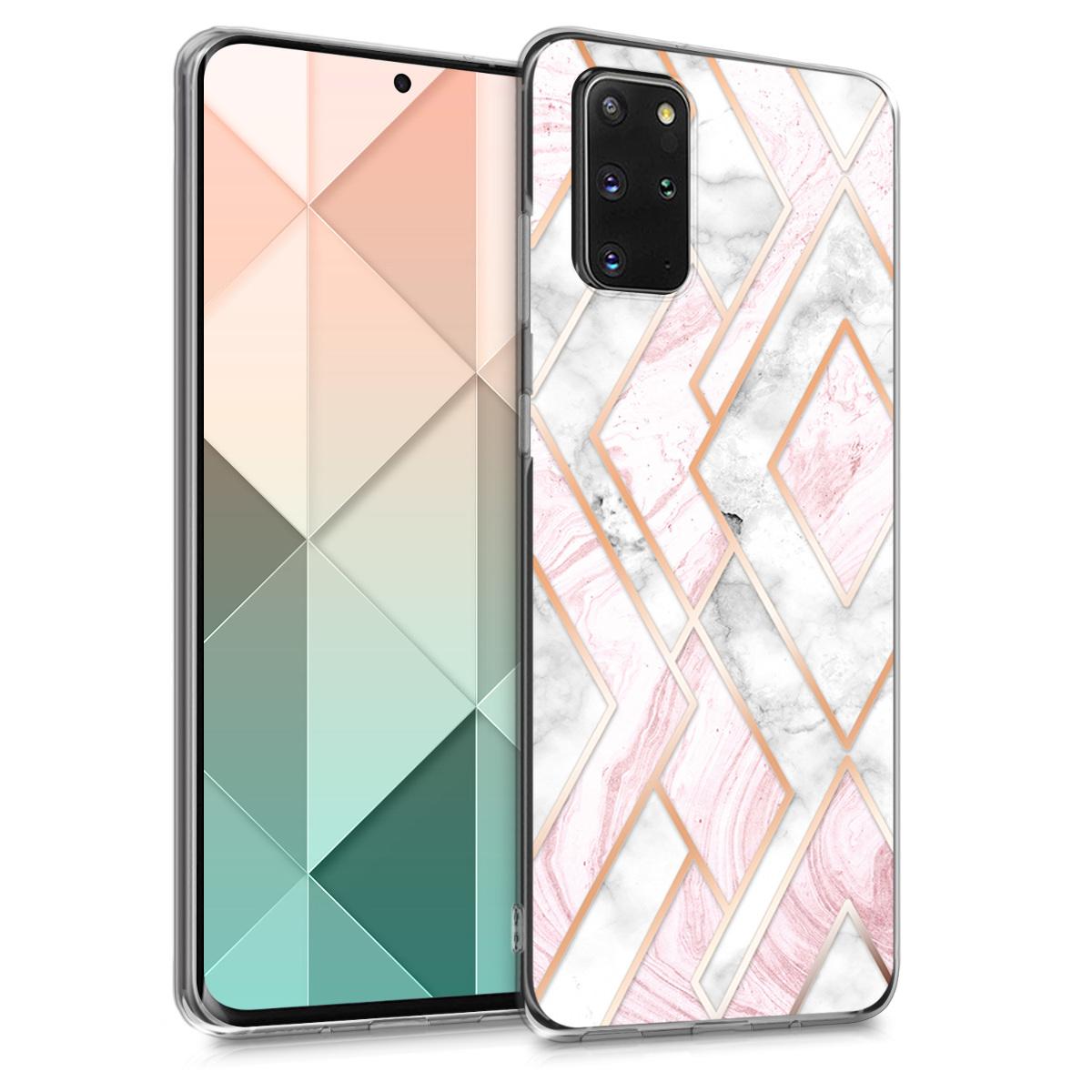Kosočtvercové růžové silikonové pouzdro / obal pro Samsung S20 Plus