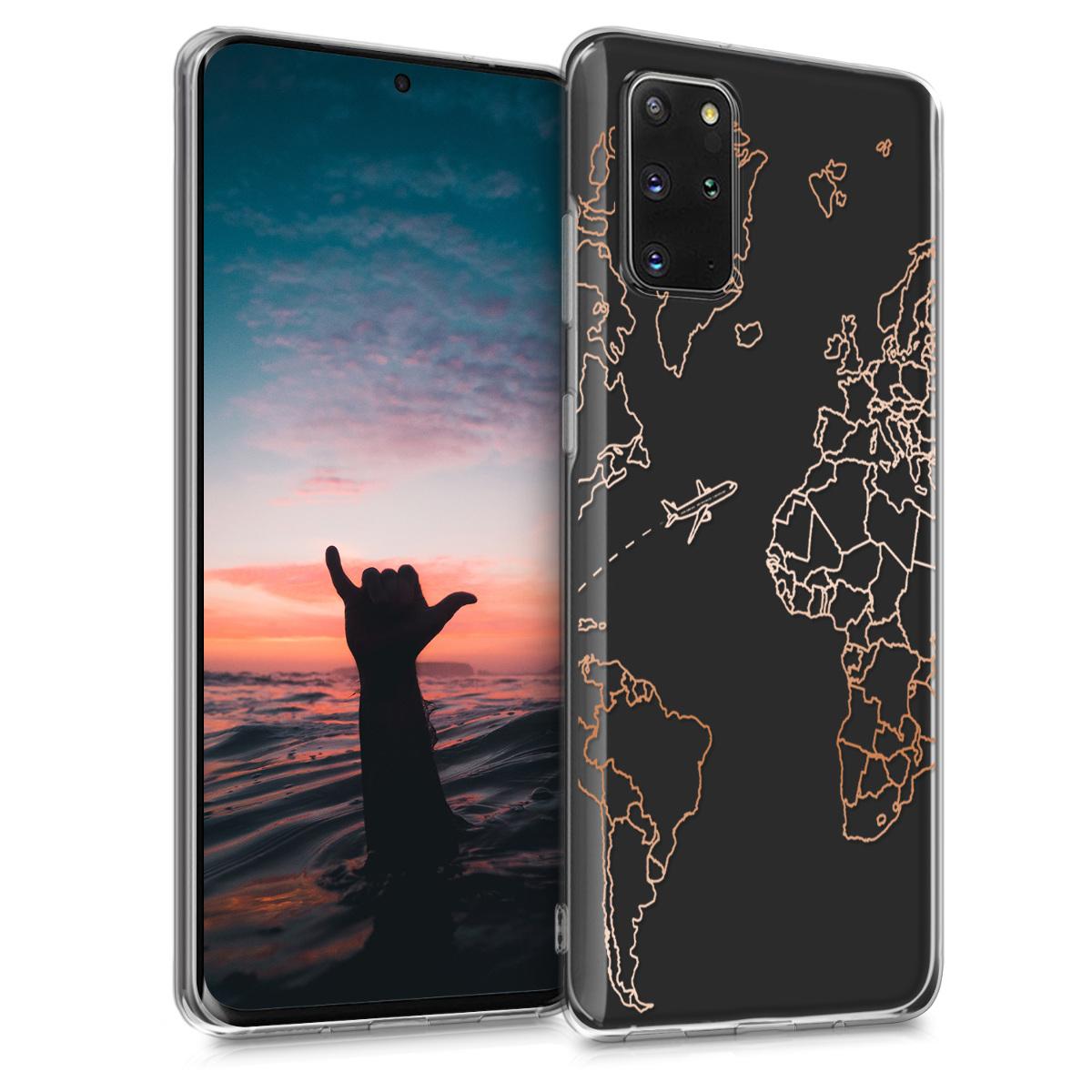Silikonové pouzdro / obal s motivem mapy světa pro Samsung S20 Plus
