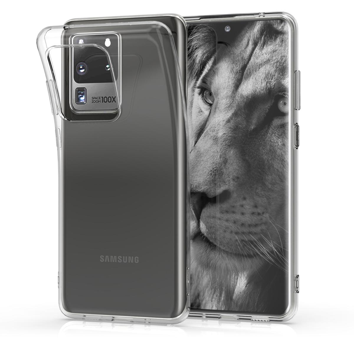 Průhledné silikonové pouzdro / obal pro Samsung S20 Ultra