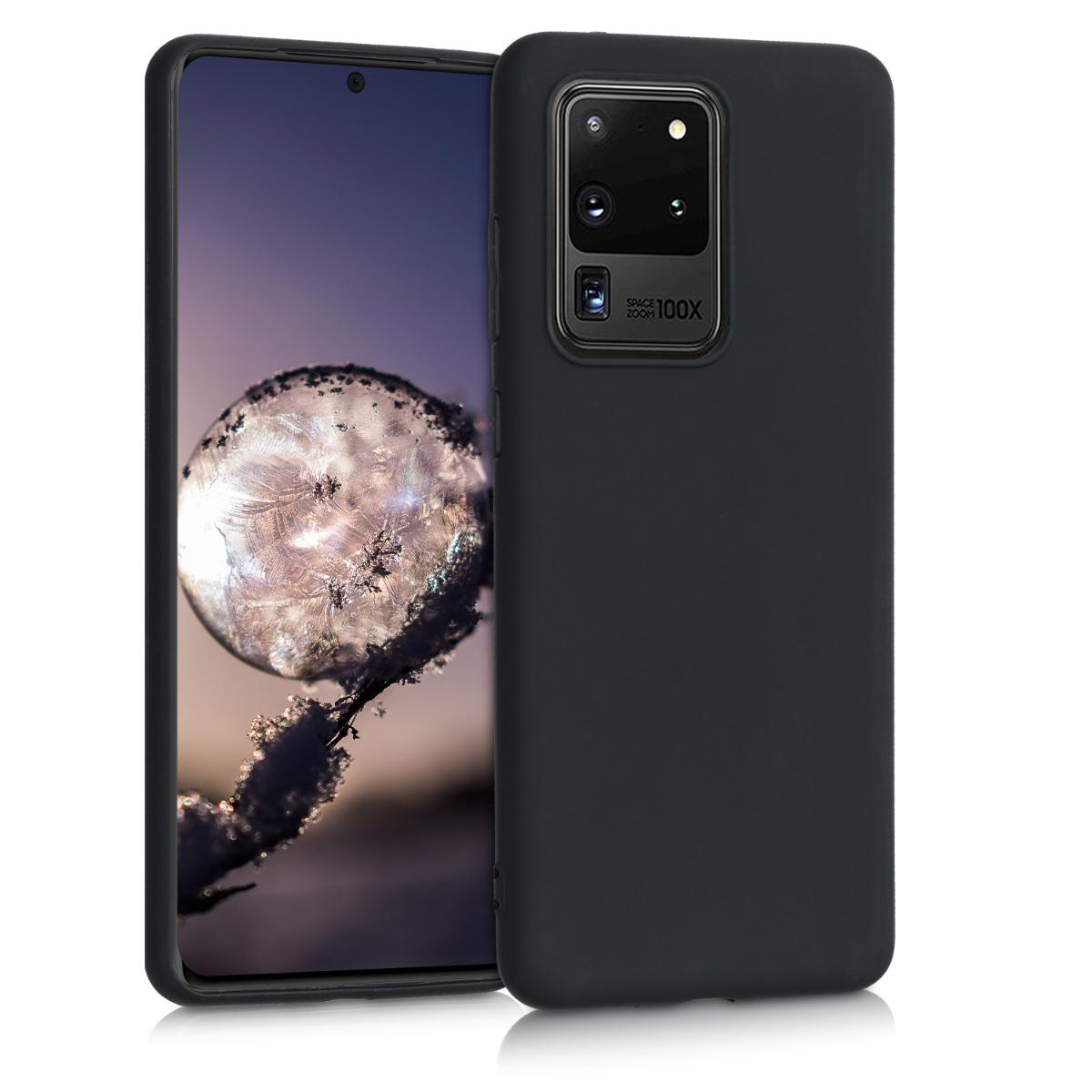 Matně černé silikonové pouzdro / obal pro Samsung S20 Ultra