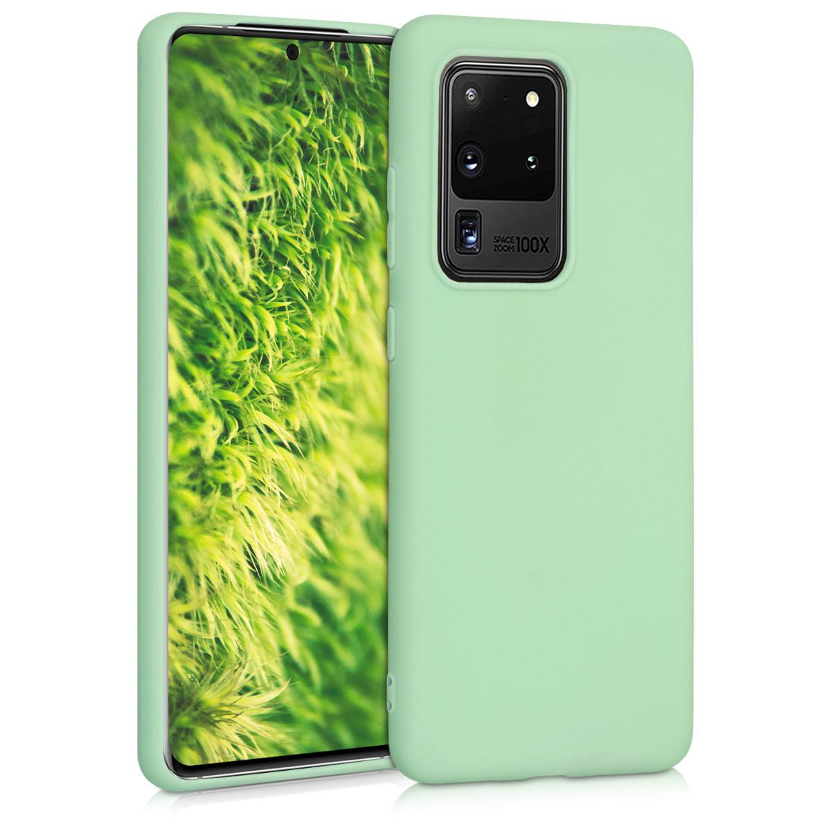 Mint zelené silikonové pouzdro / obal pro Samsung S20 Ultra