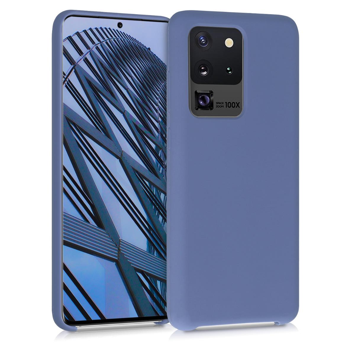 Fialové silikonové pouzdro / obal pro Samsung S20 Ultra