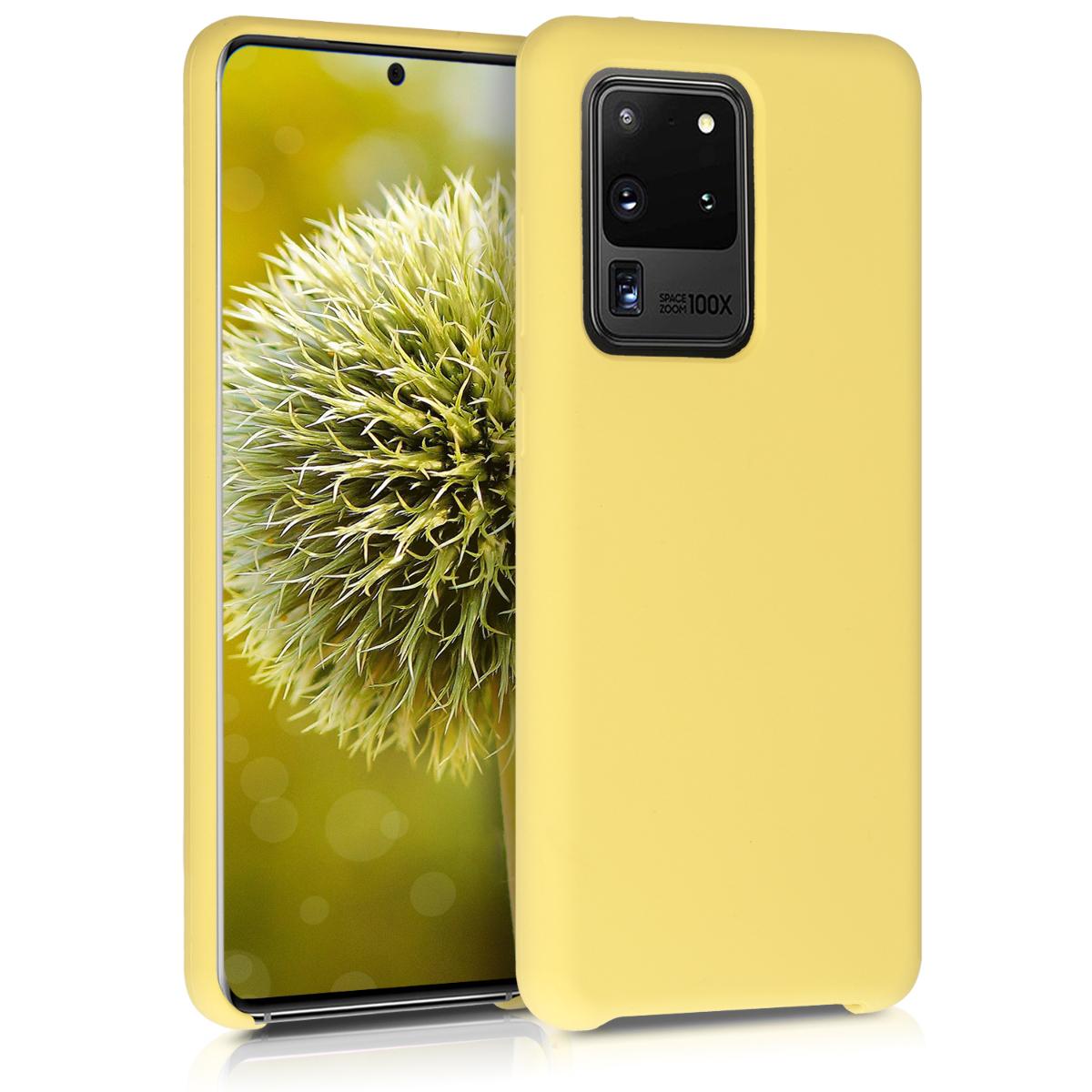 Citrónově žluté silikonové pouzdro / obal pro Samsung S20 Ultra