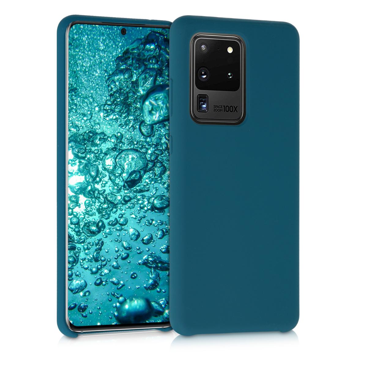 Tmavě modré silikonové pouzdro / obal pro Samsung S20 Ultra