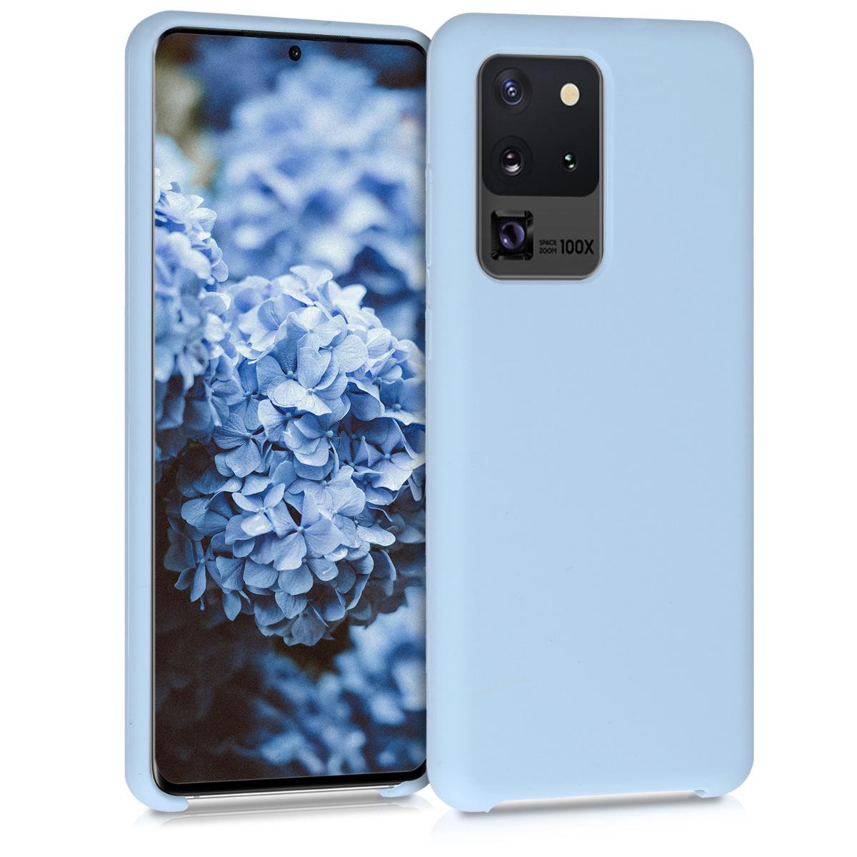 Světle modré silikonové pouzdro / obal pro Samsung S20 Ultra