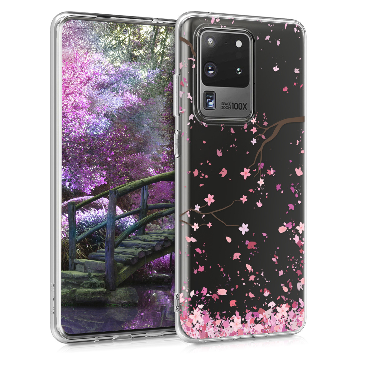Silikonové pouzdro obal s motivem třešnových květů pro Samsung S20 Ultra