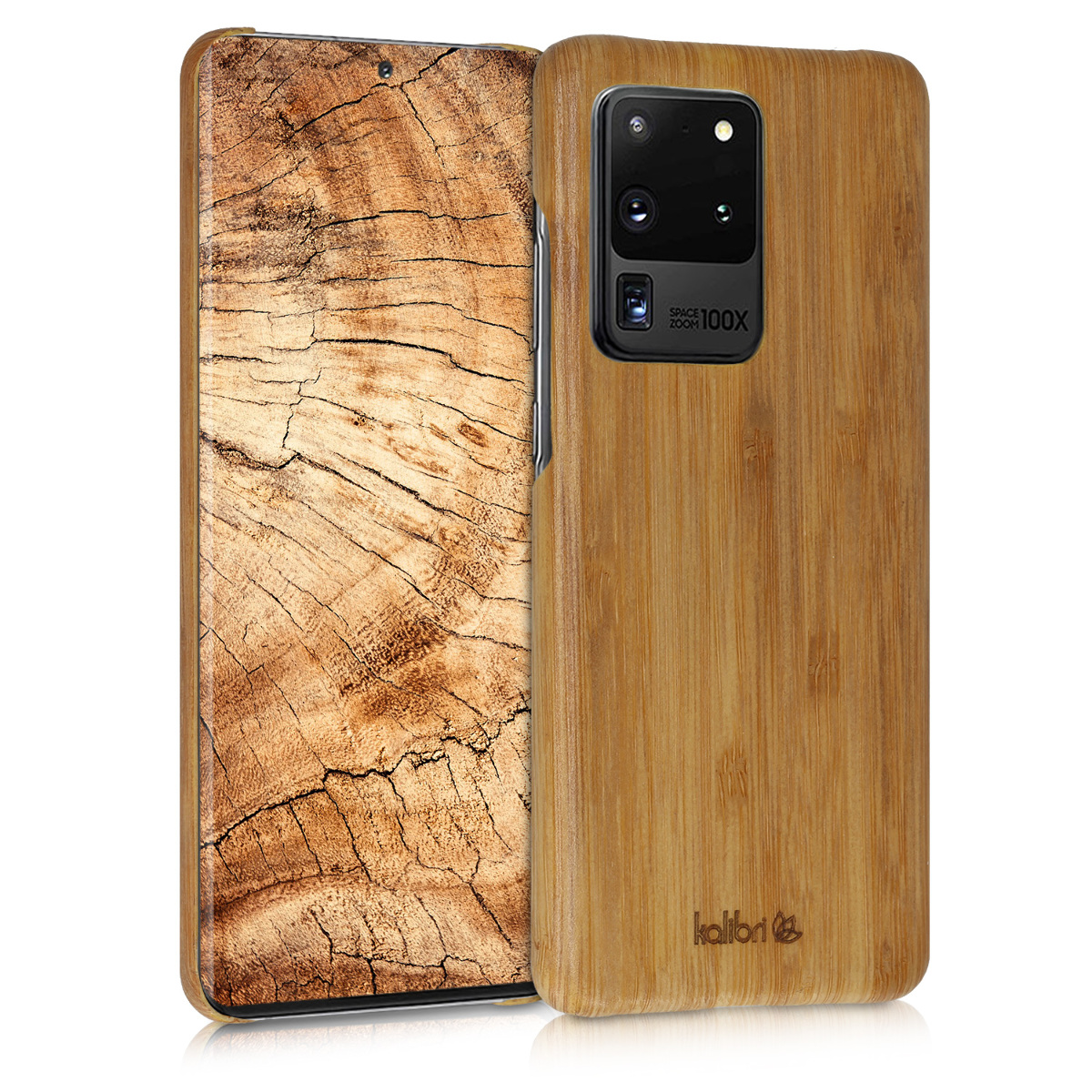 Dřevěné plastové pouzdro / obal pro Samsung S20 Ultra