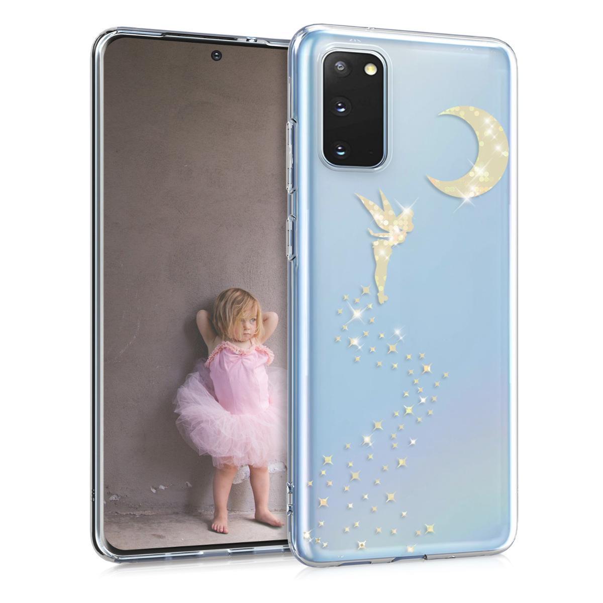 Silikonové pouzdro / obal pro Samsung S20 s motivem víly a měsíce