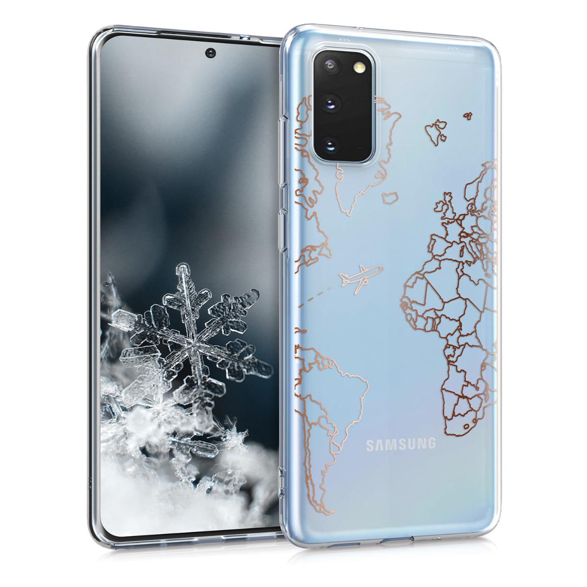 Silikonové pouzdro / obal pro Samsung S20 s motivem mapy světa