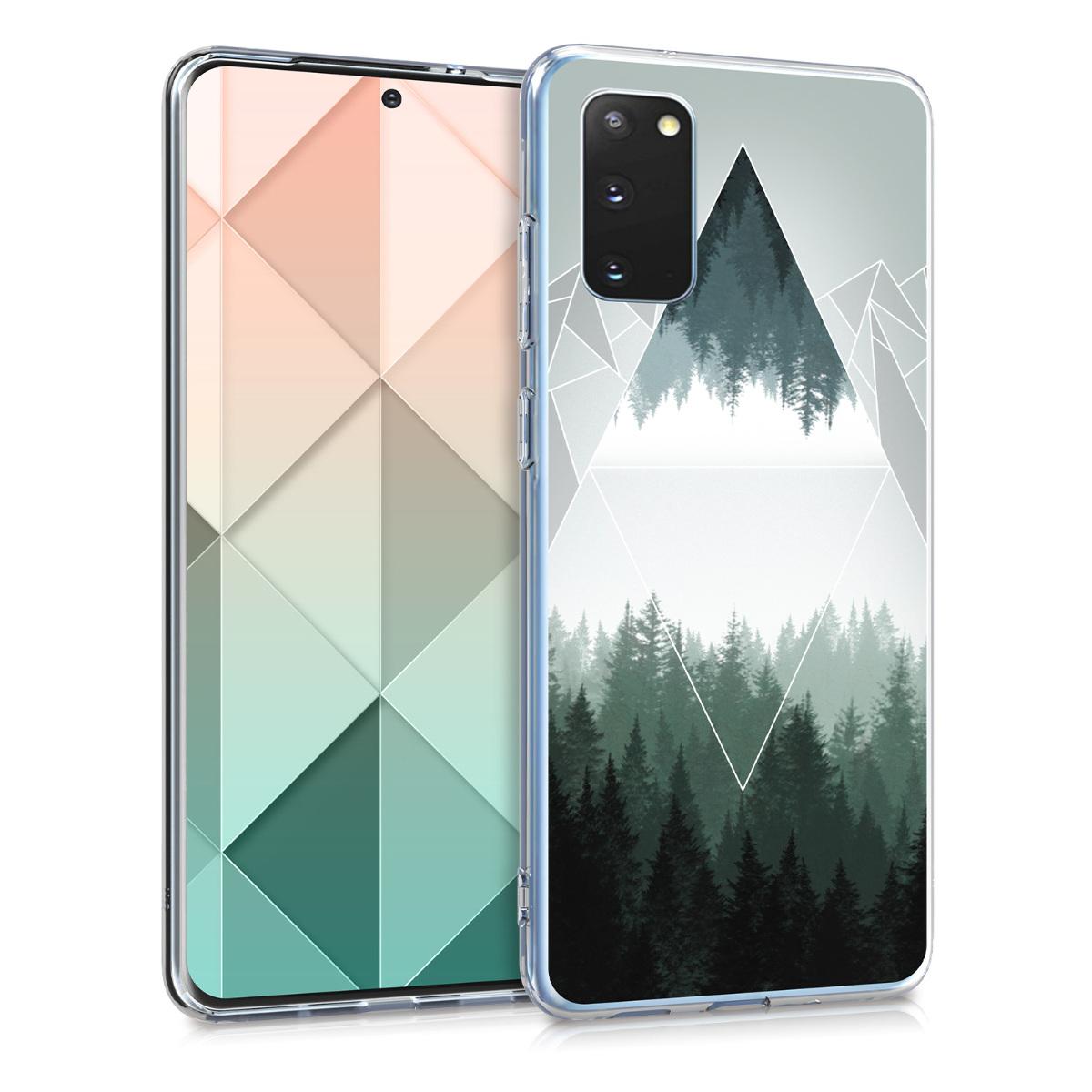 Silikonové pouzdro / obal pro Samsung S20 s motivem hor a lesa