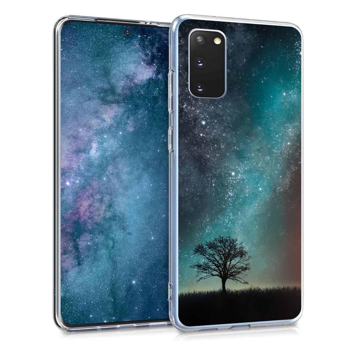 Silikonové pouzdro / obal pro Samsung S20 s motivem vesmíru a přírody